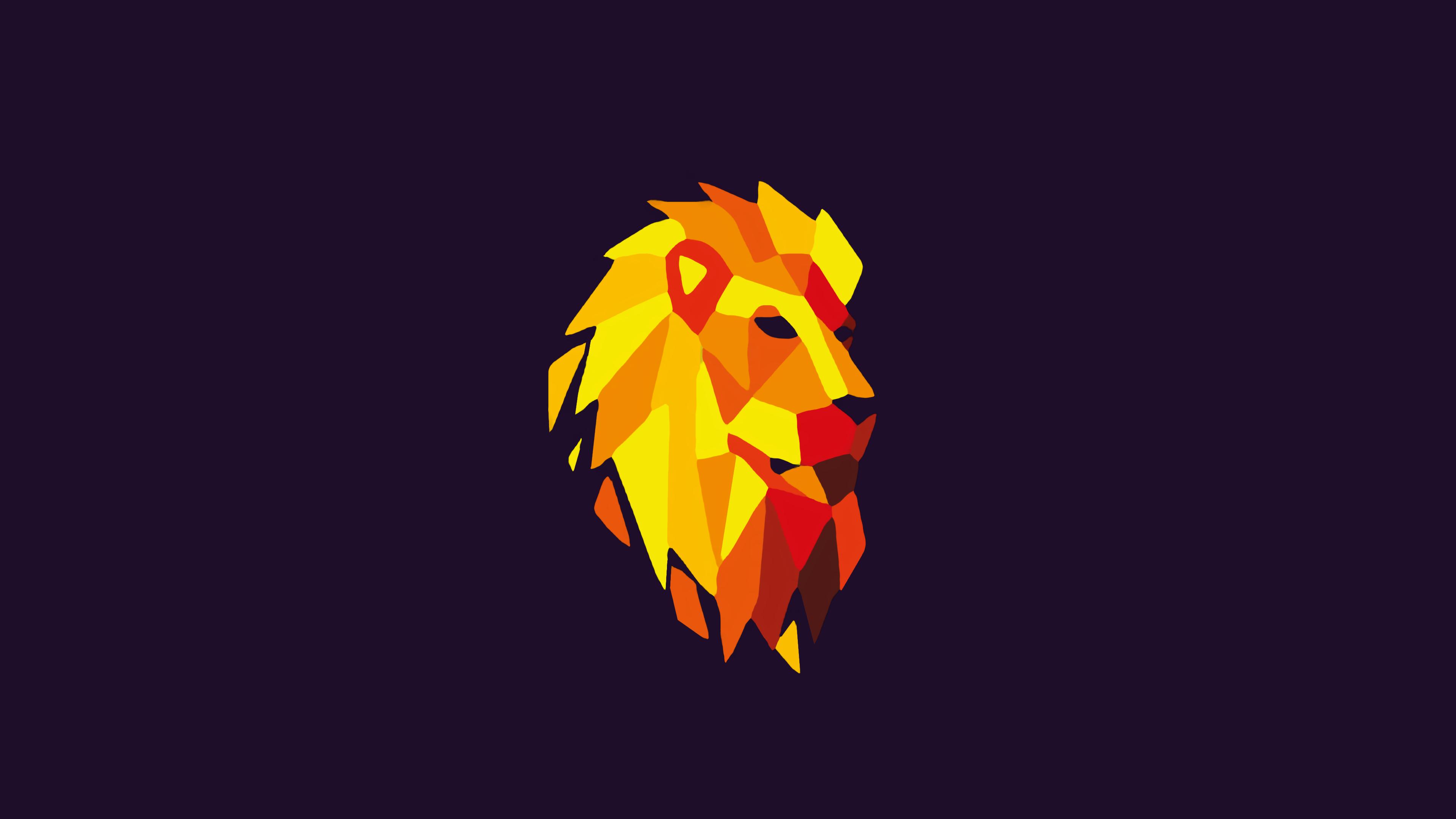 1920x1080 Lion Purple Background Digital Art 1080P Laptop ...