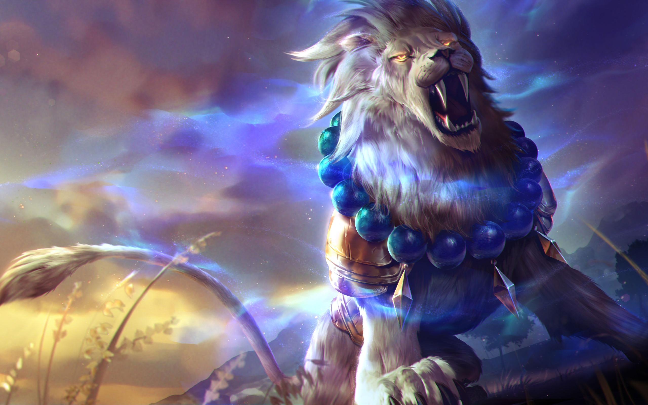 Lion Roar Colorful Fantasy Artwork HD 4K Wallpaper