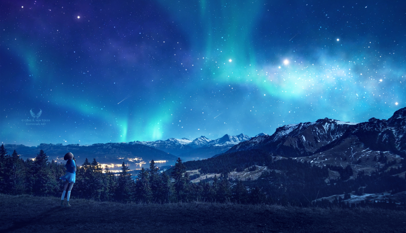 1336x768 Looking At The Stars Hd Laptop Wallpaper Hd Fantasy 4k Wallpapers Images Photos And Background