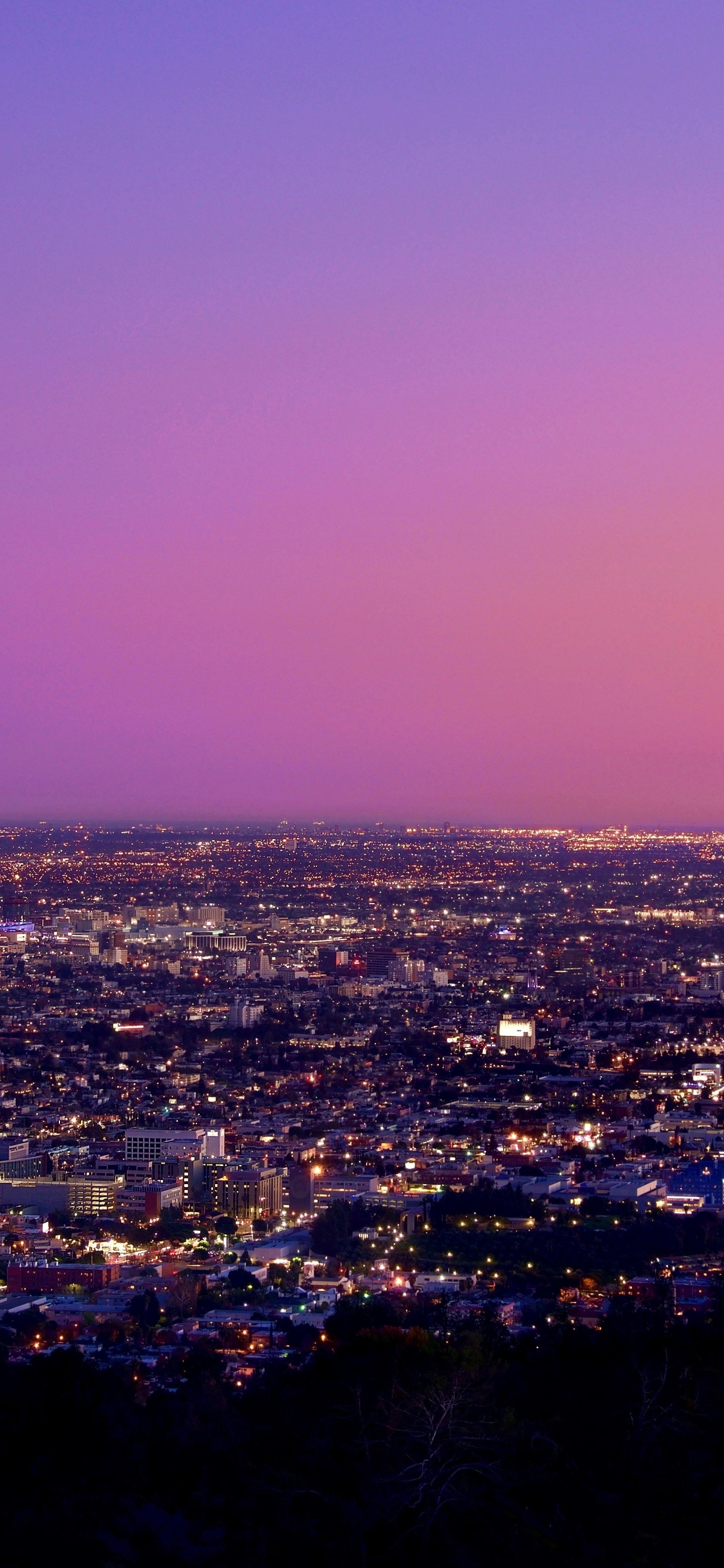 1242x2688 Los Angeles At Night Pink Sky Iphone Xs Max Wallpaper Hd City 4k Wallpapers Images Photos And Background