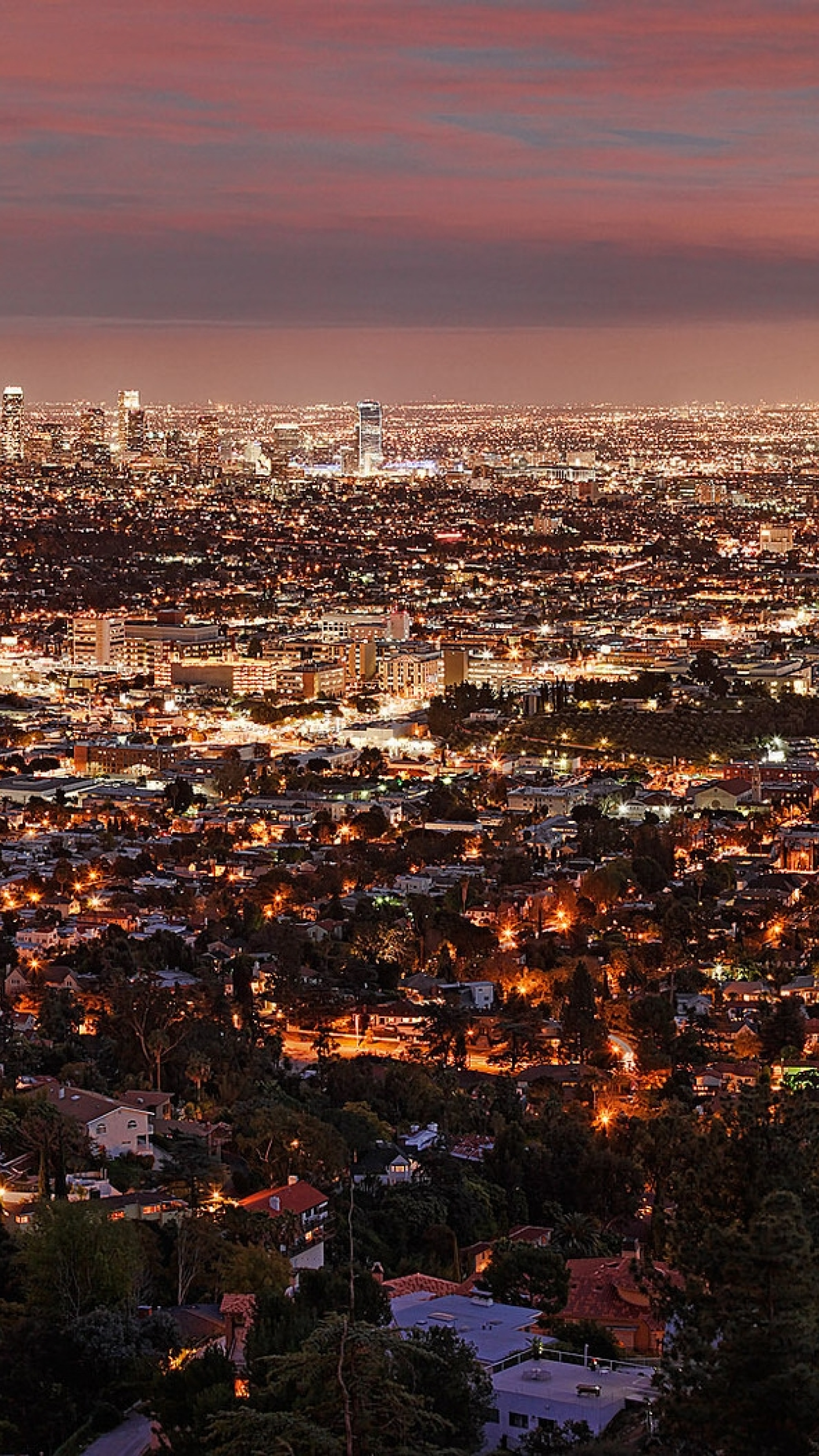Xperia Wallpaper 1920x1080 Los Angeles, Night, Vi...