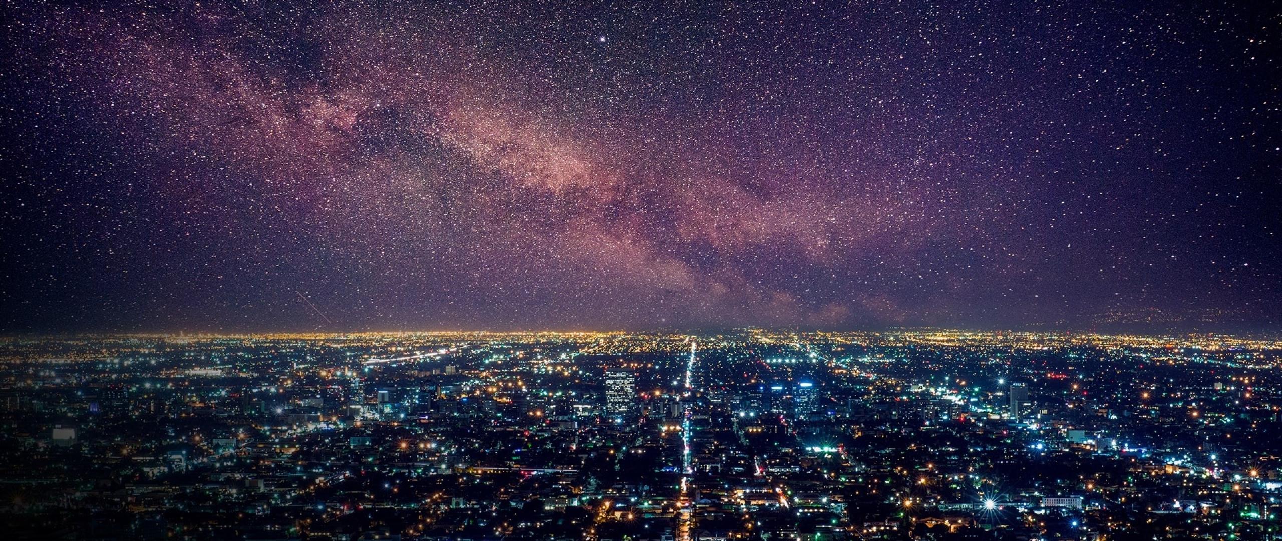 2560x1080 Los Angeles Starry Night 2560x1080 Resolution ...