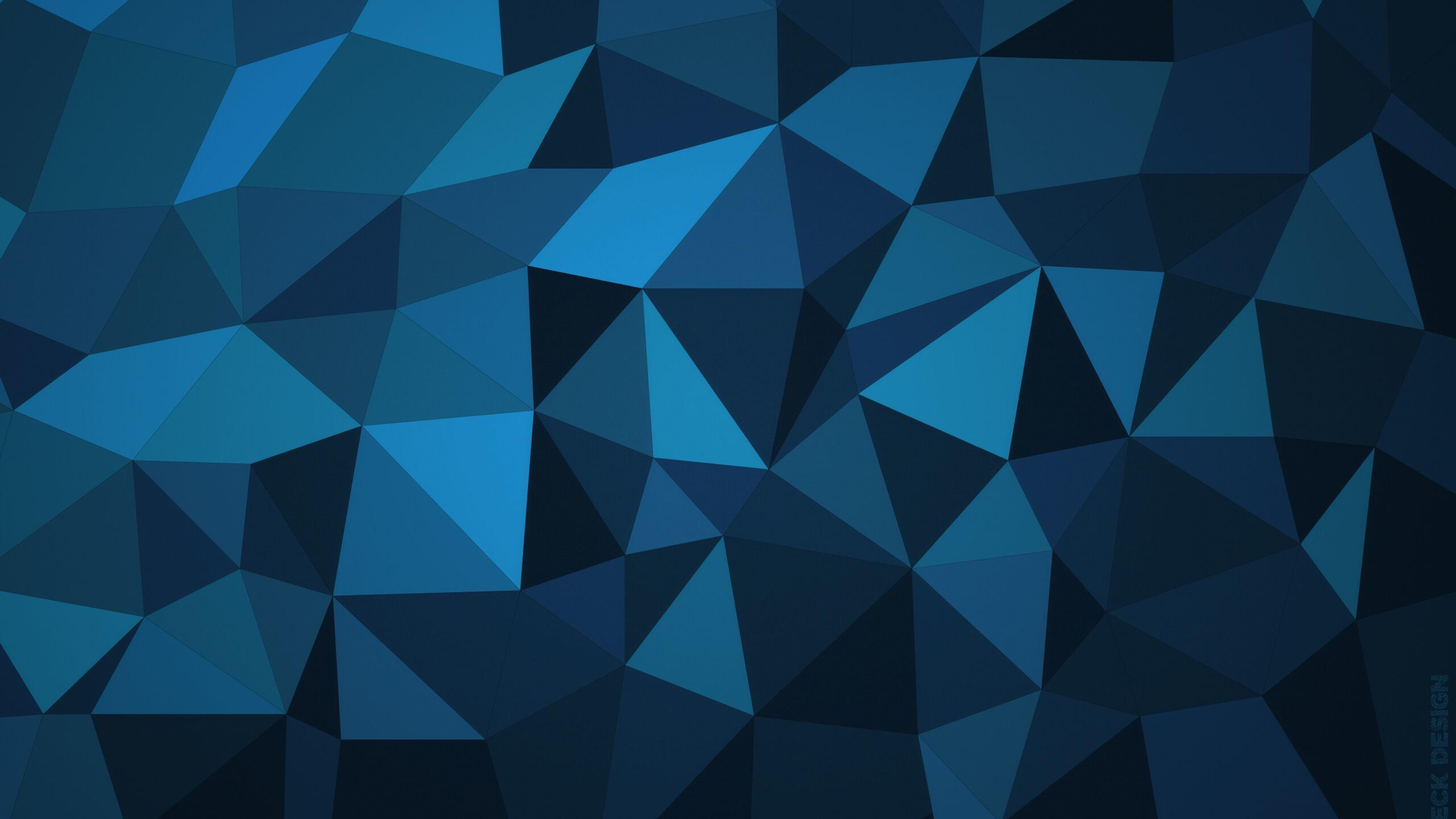 Download Galaxy Note 5 Galaxy S6 Edge Full Hd Stock: Low Poly Blue, Full HD 2K Wallpaper