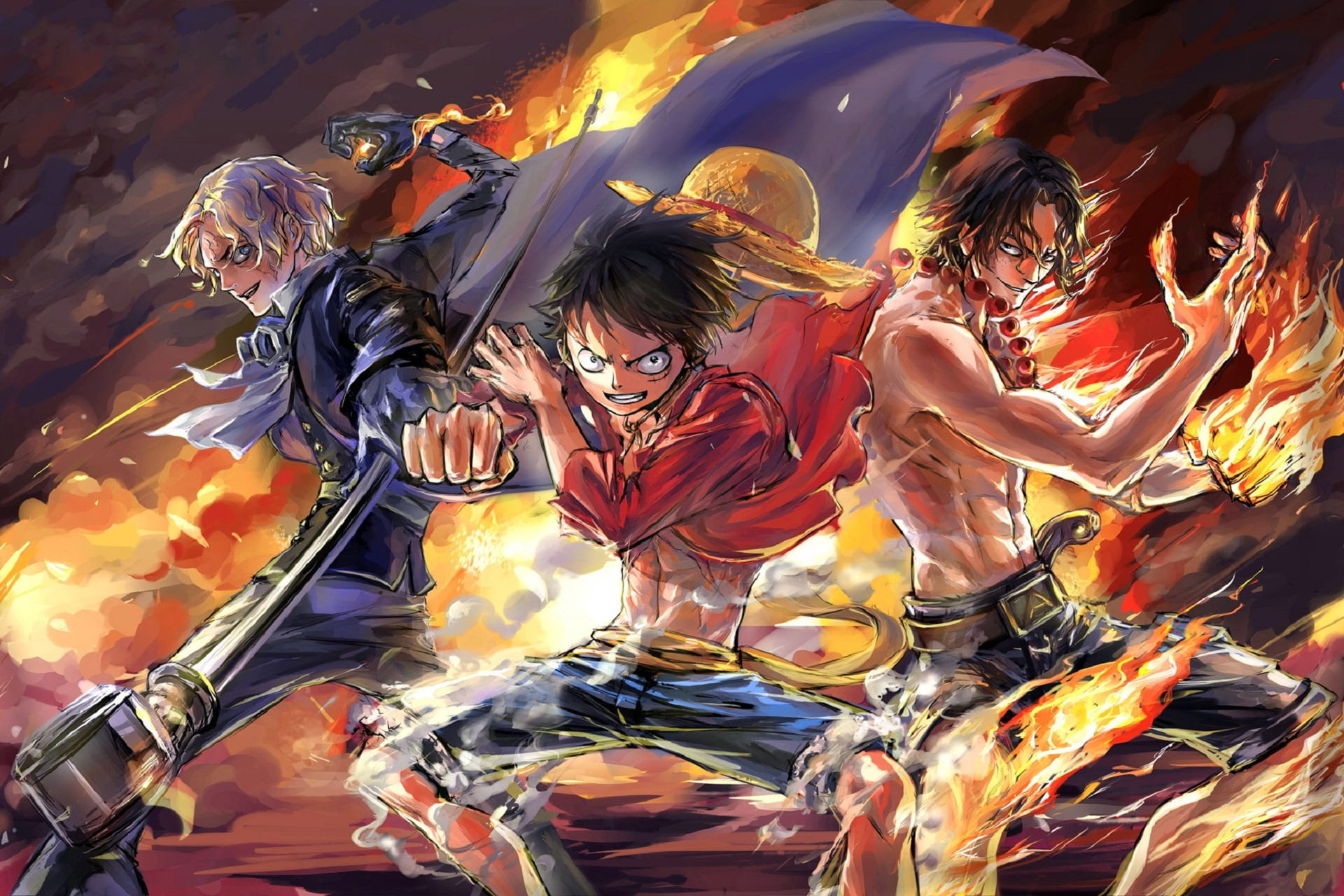 Luffy, Ace and Sabo One Piece Team Wallpaper, HD Anime 4K ...