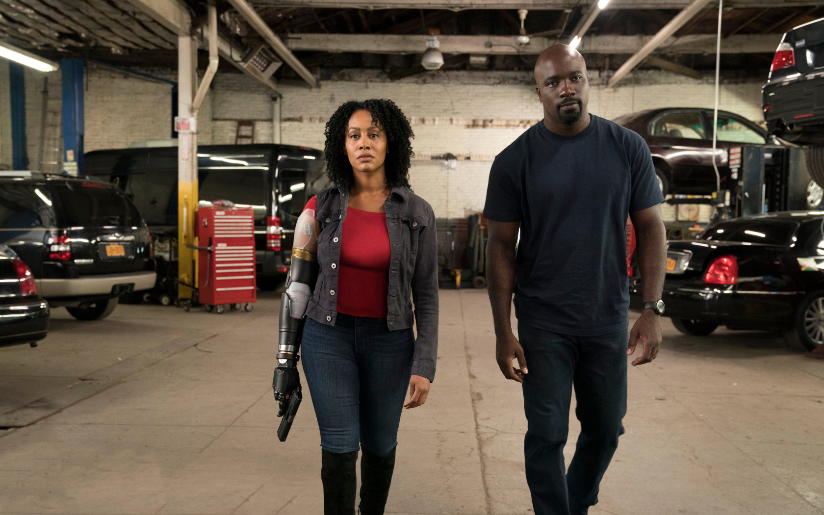 Best Dual Sport >> Luke Cage Misty Knight With Bionic Arm, Full HD 2K Wallpaper