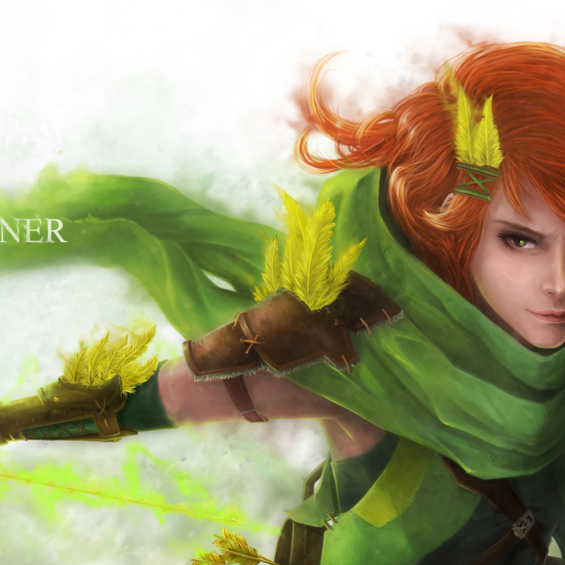 Download Lyralei Windrunner Dota 2 2248x2248 Resolution Full HD