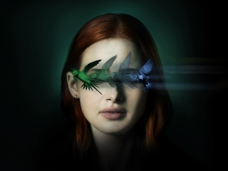 Madelaine Petsch Sightless Movie Wallpaper in 320x240 Resolution
