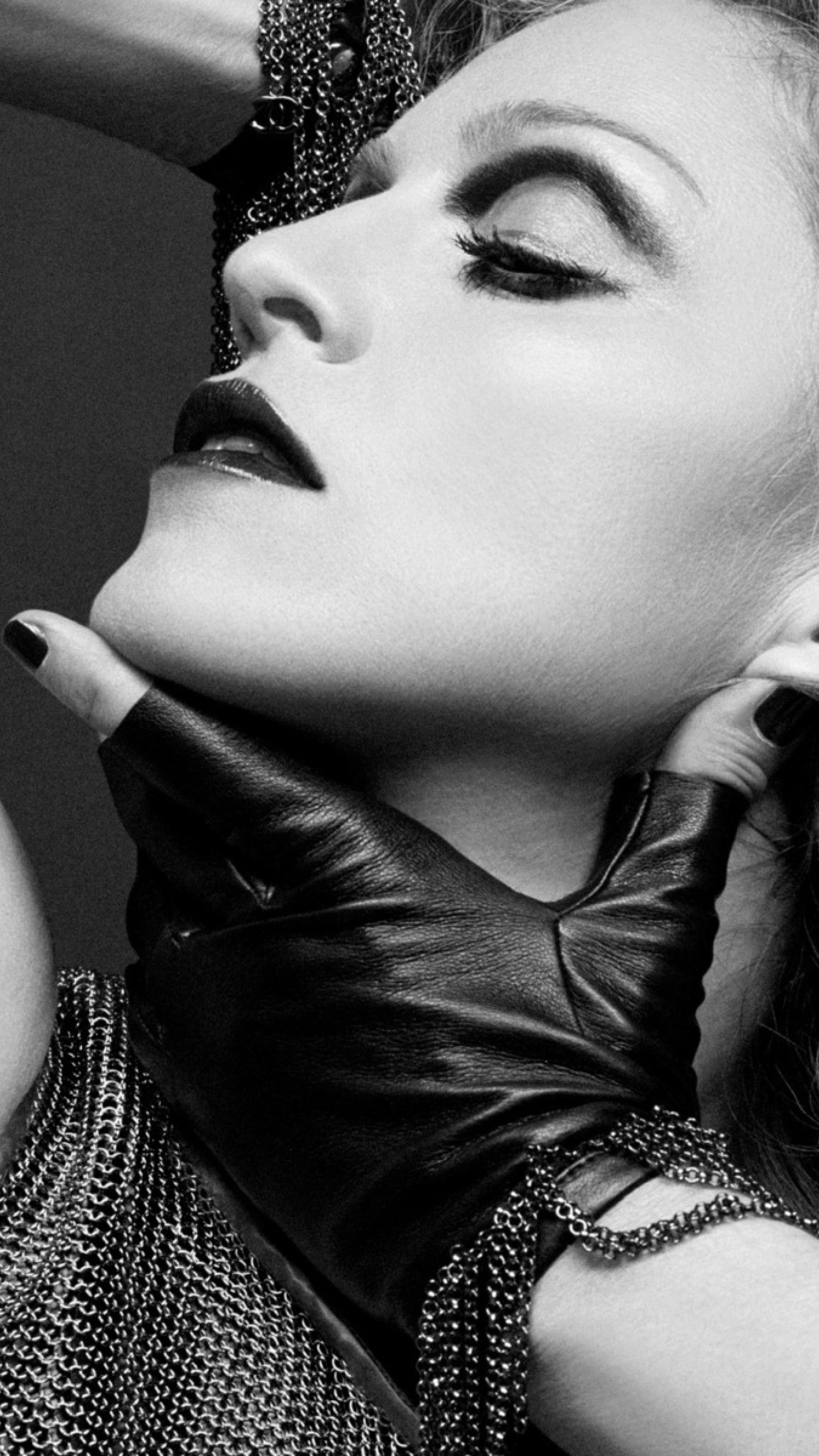 Madonna Black And White Portrait Photoshoot, Full HD Wallpaper