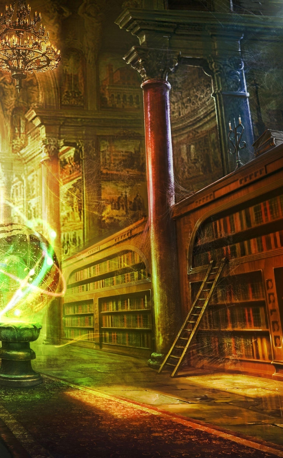 Magic ball library hd 4k wallpaper - I phone fantasy wallpapers ...