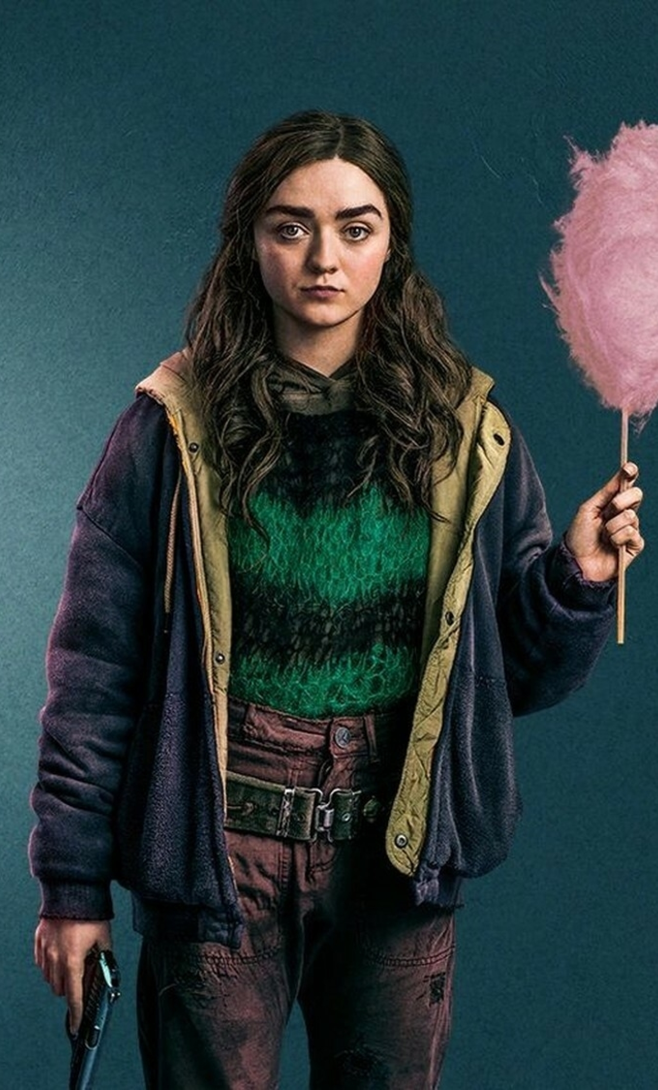 Maisie Williams Two Weeks To Live Wallpaper in 1280x2120 Resolution