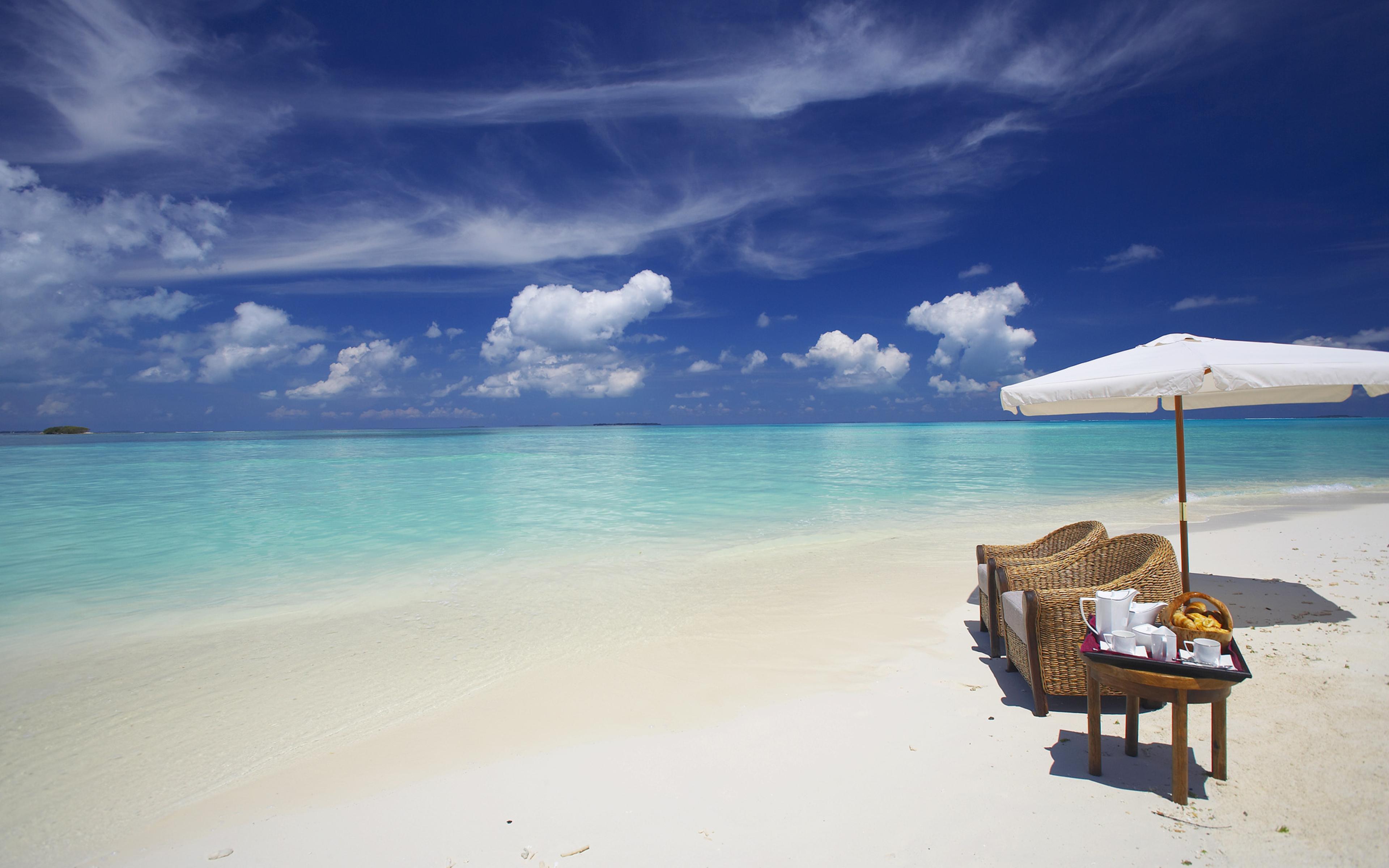 3840x2400 maldives, ocean, beach UHD 4K 3840x2400 ...