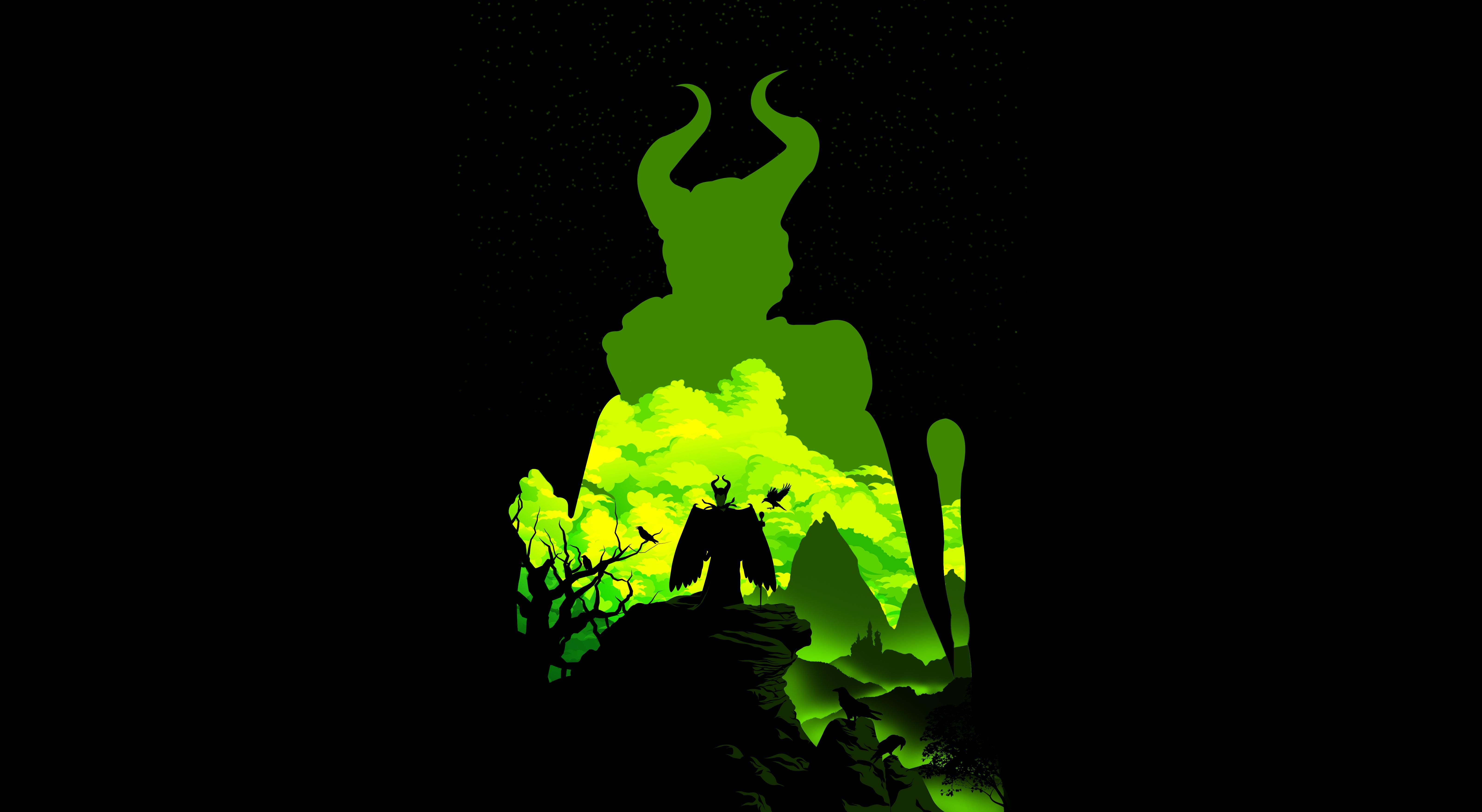 Maleficent Cool Minimal Wallpaper, HD Minimalist 4K ...