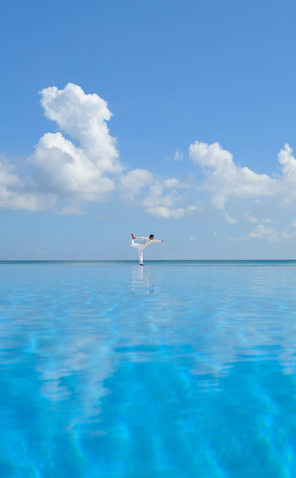 Man, Yoga, Sea, HD 4K Wallpaper  Man, Yoga, Sea,...