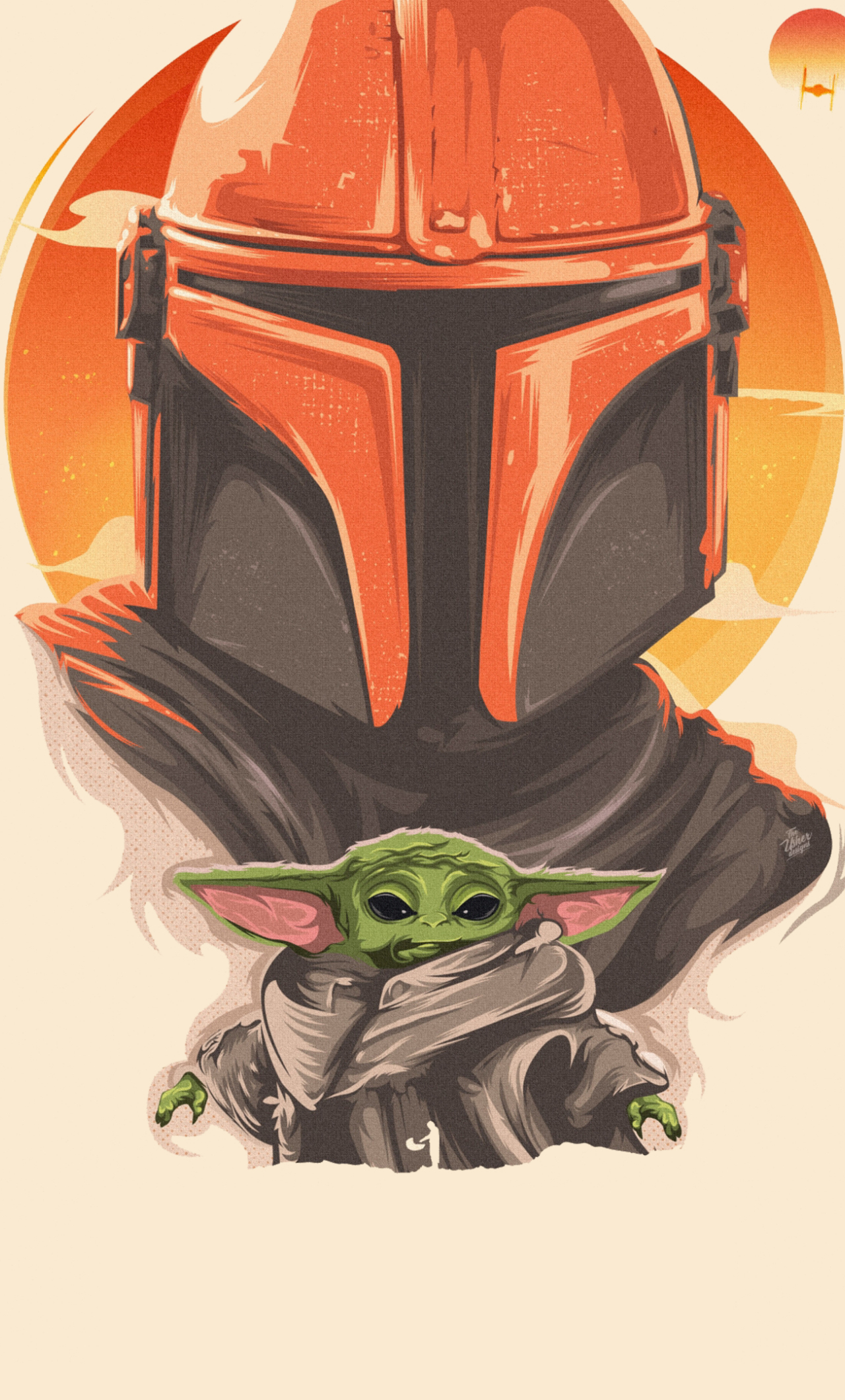 1280x2120 Mandalorian and Baby Yoda Art 4K iPhone 6 plus ...