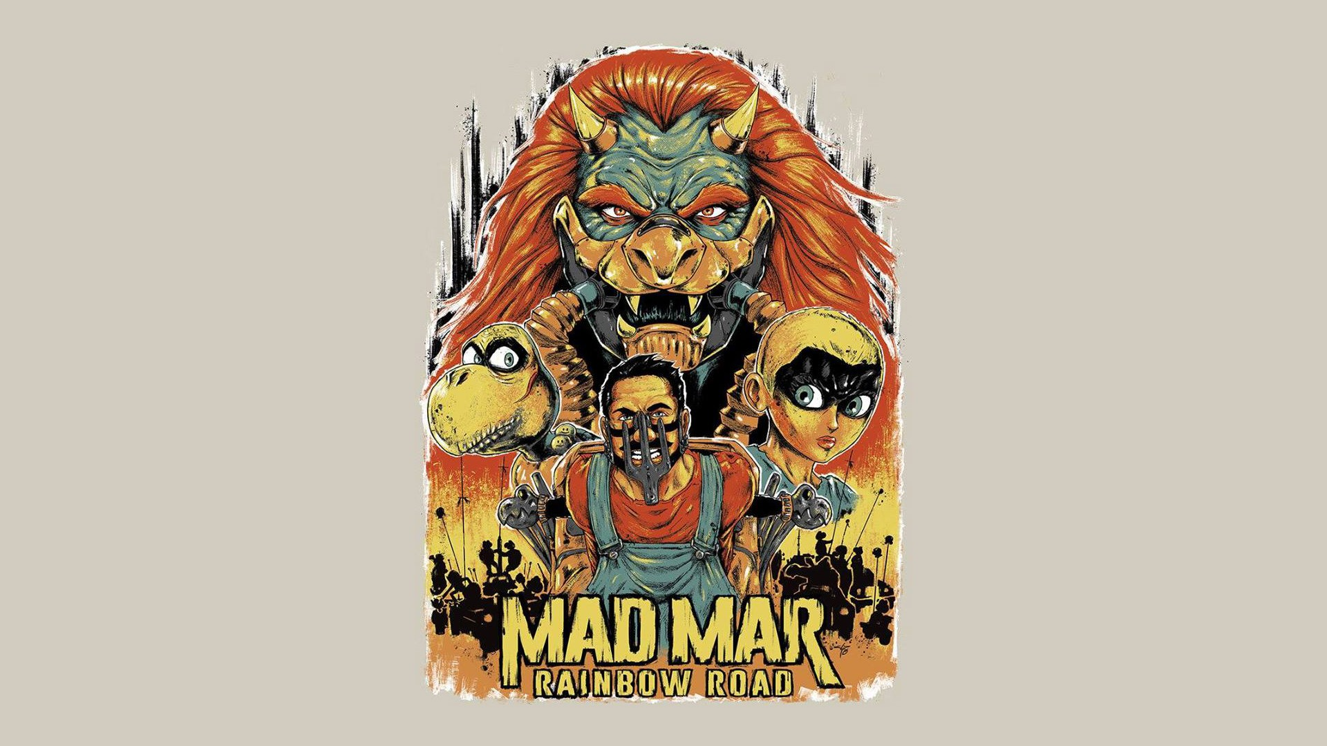 Mario Kart Mad Max Rainbow Road Wallpaper Hd Games 4k