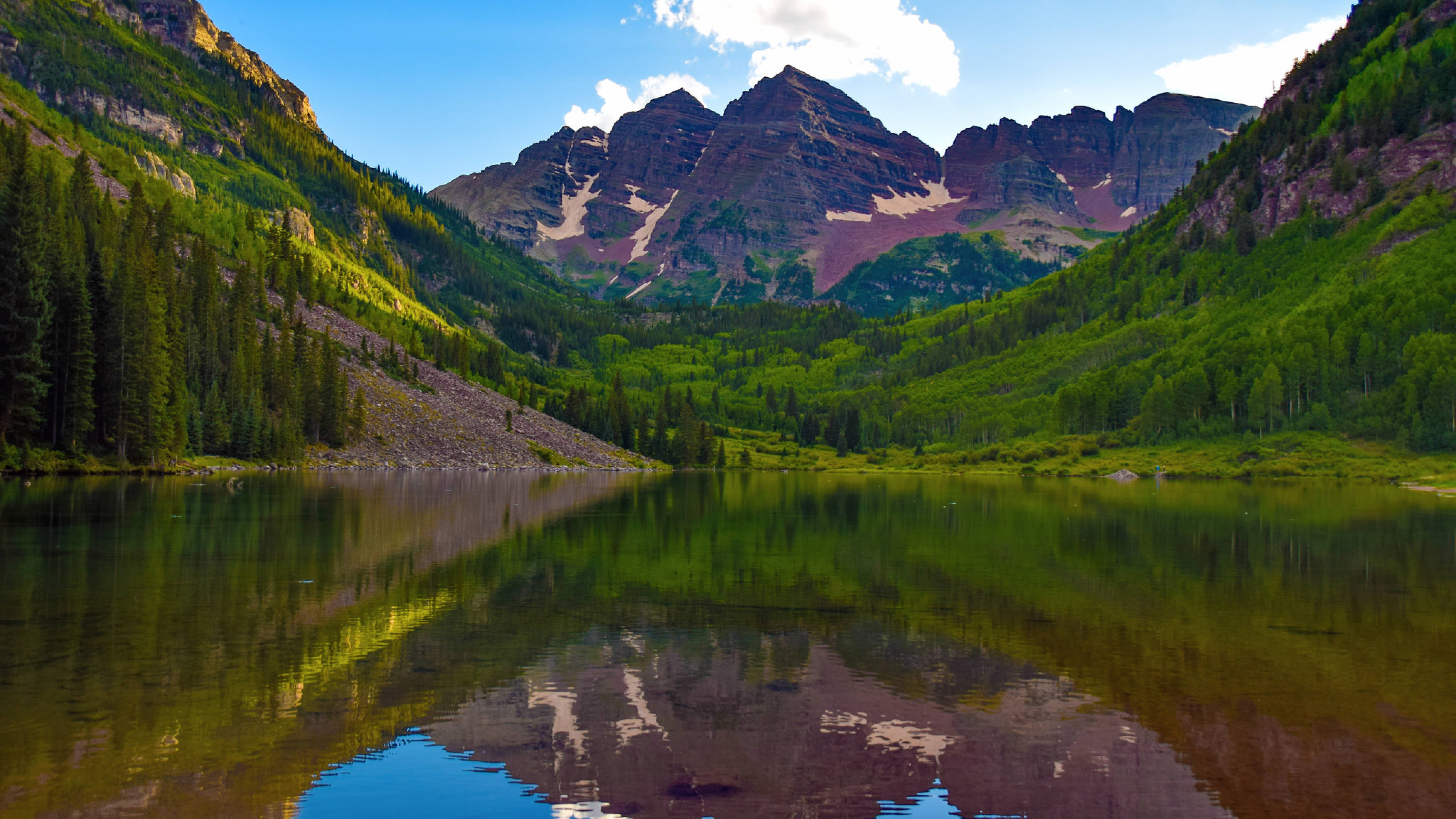 Snow Capped Maroon Bells, White River National Forest, Colorado на телефон