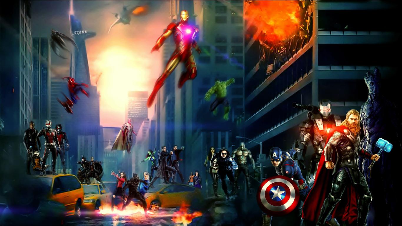 Top Wallpaper Marvel Laptop - marvel-cinematic-universe-superhero-artwork_62256_1366x768  Picture_51210.jpg