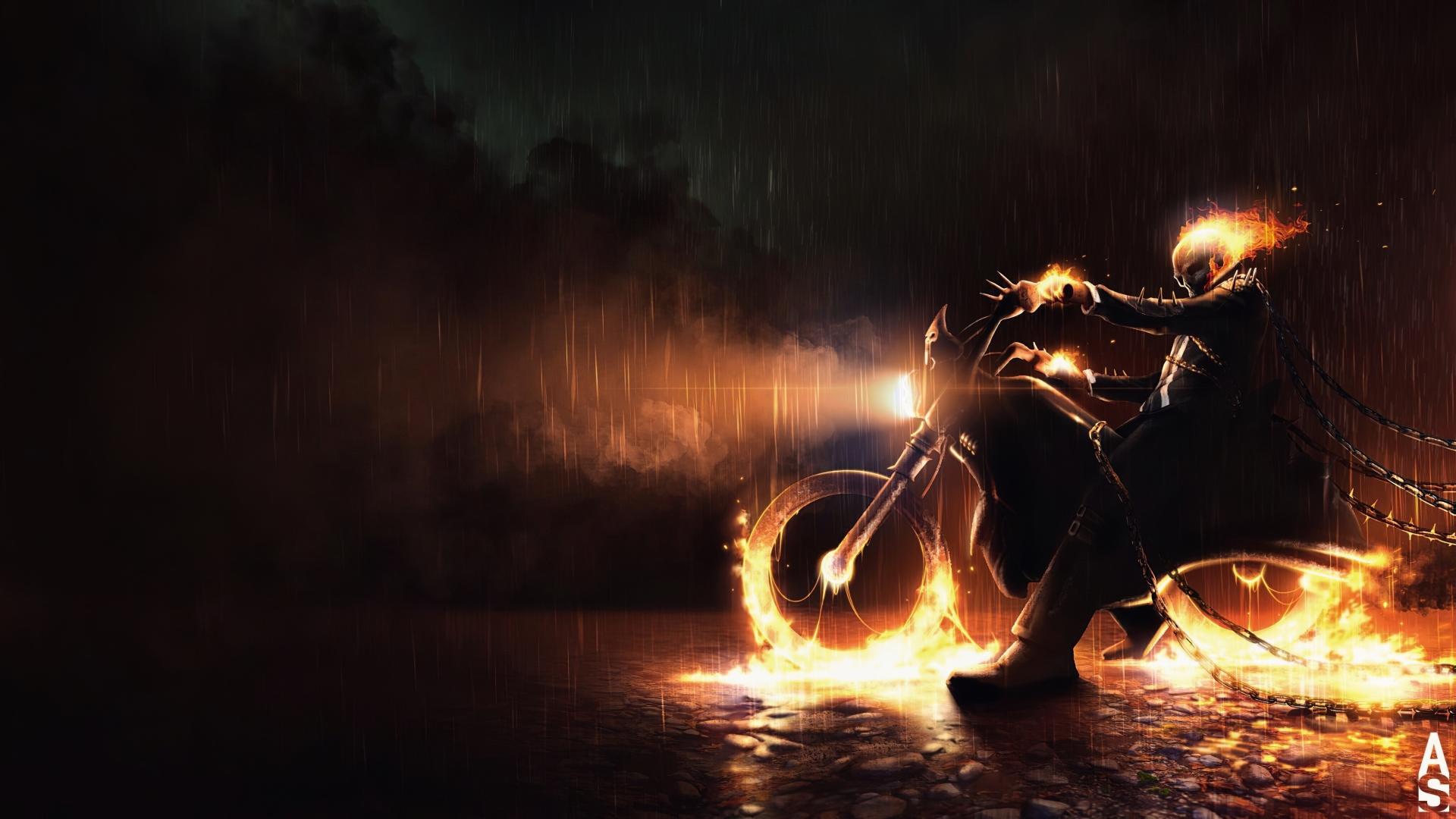 1920x1080 Marvel Comic Ghost Rider 1080P Laptop Full HD ...