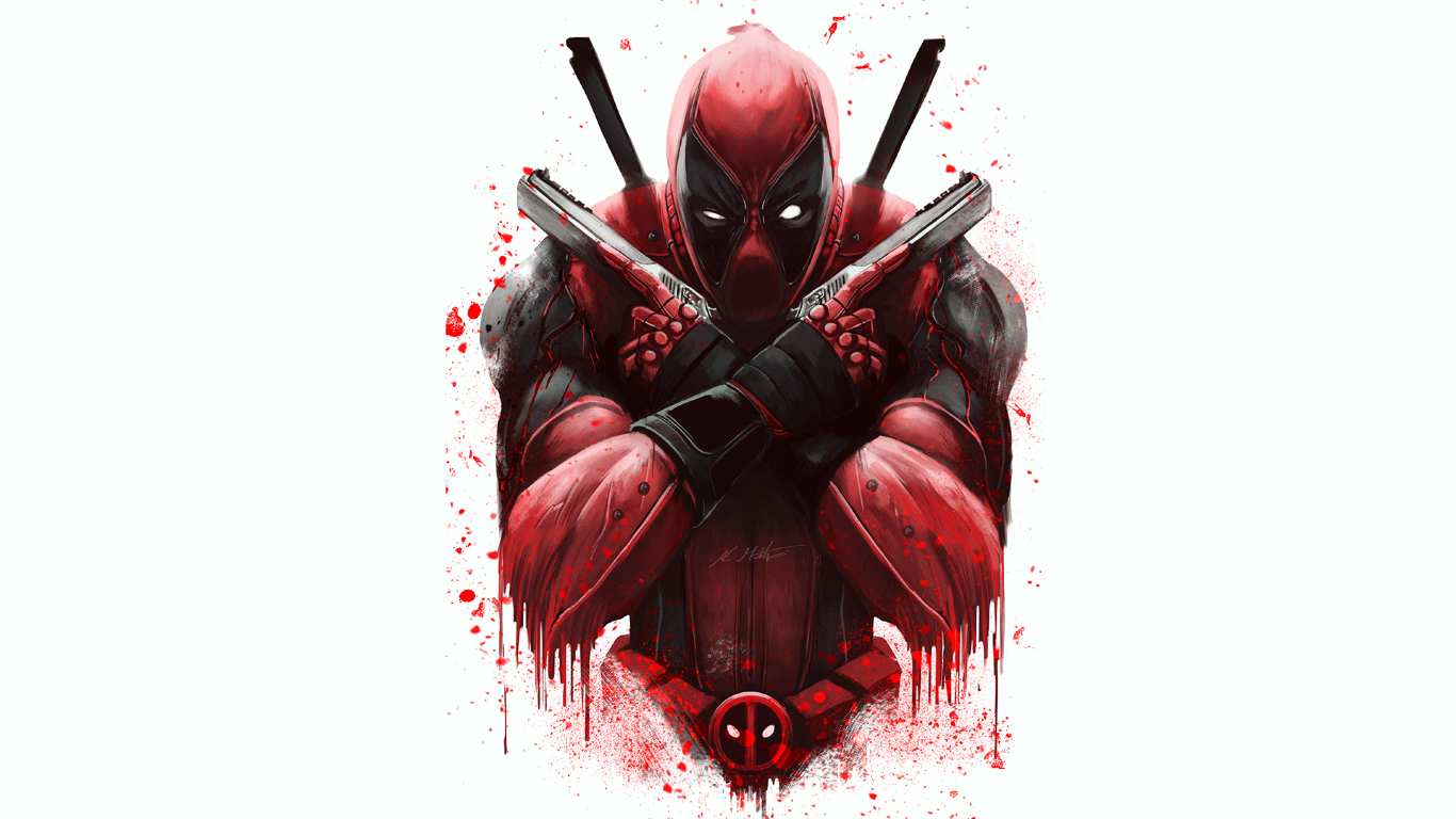 Marvel deadpool artwork full hd wallpaper - 1366x768 is 720p or 1080p ...