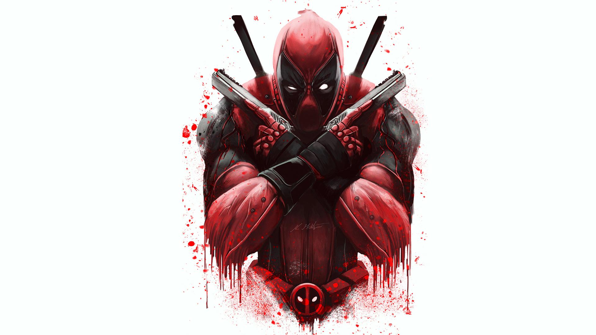 Marvel Deadpool Artwork Full HD Wallpaper