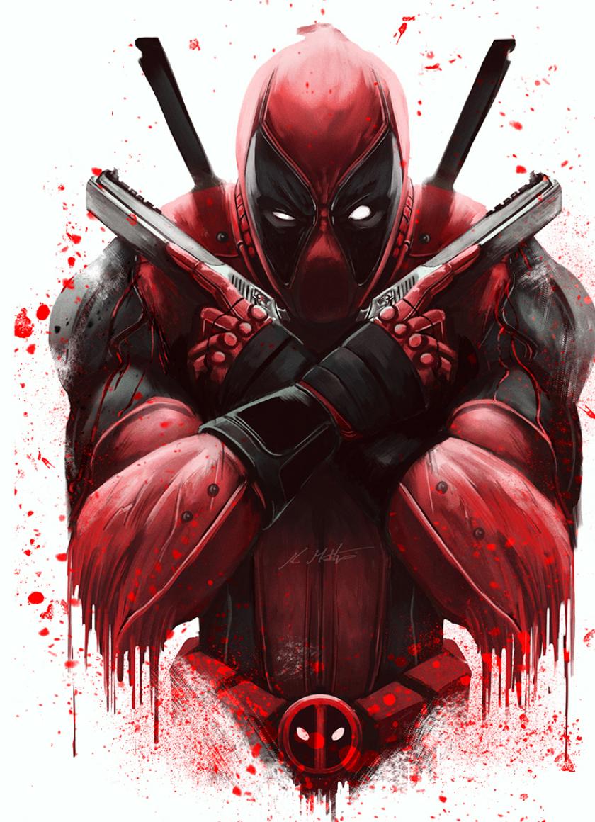 Download Marvel Deadpool Artwork 1024x768 Resolution Full HD Wallpaper