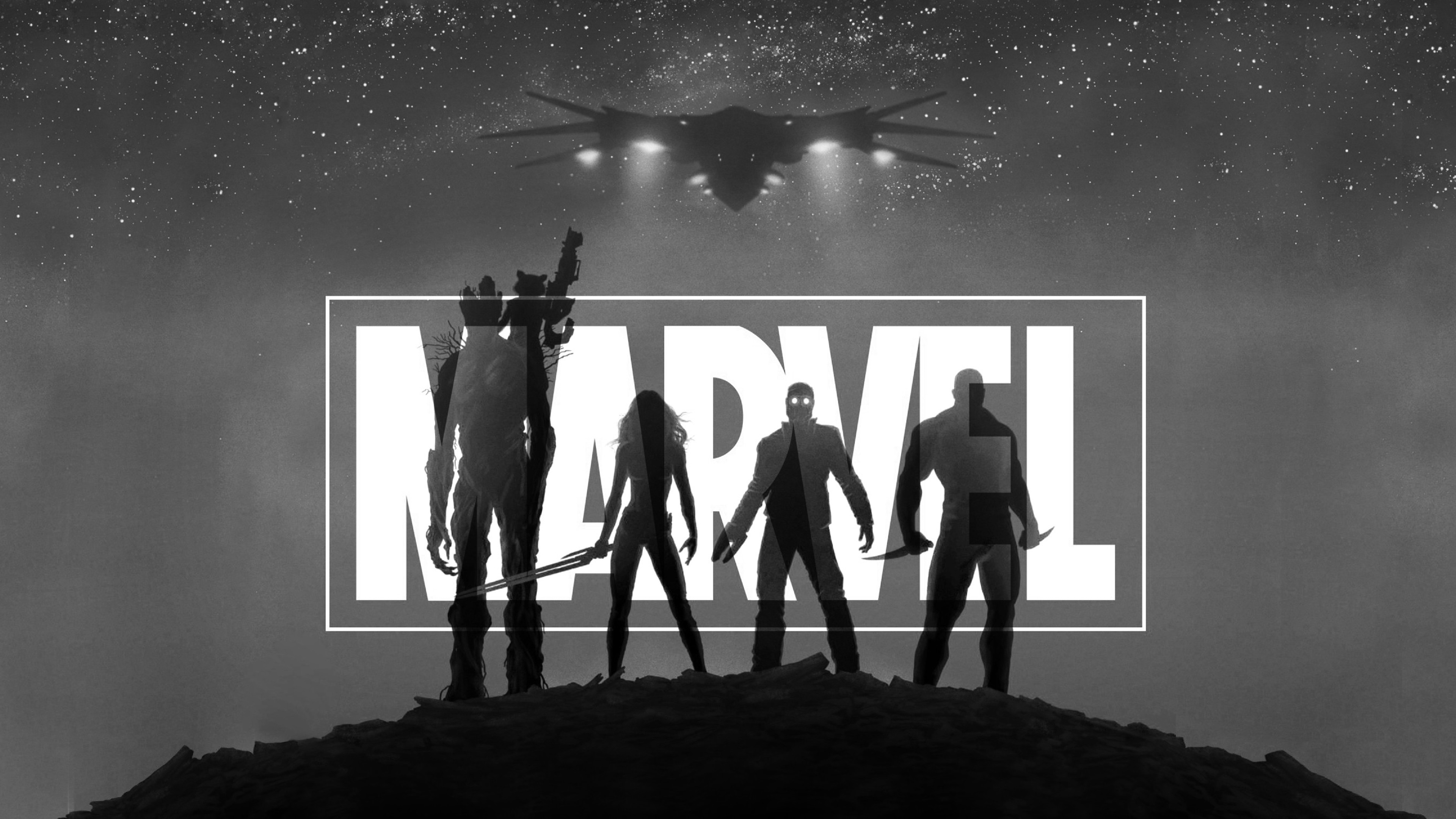 Marvel guardians of the galaxy black and white hd 4k - Guardians of the galaxy 2 8k ...