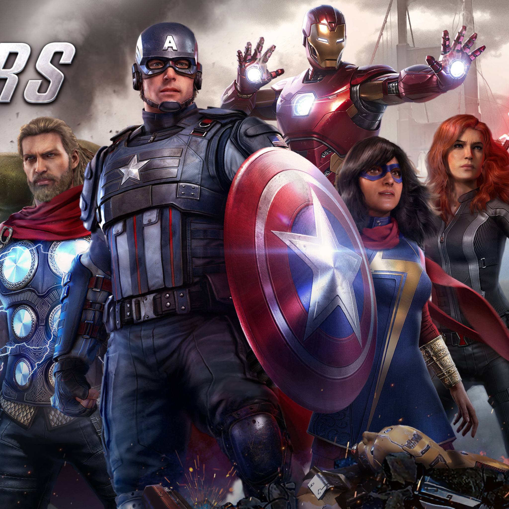 2048x2048 Marvel's Avengers Video Game Ipad Air Wallpaper