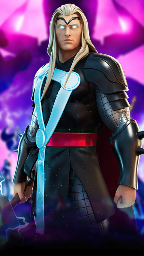 Marvel Thor Fortnite Wallpaper in 480x854 Resolution