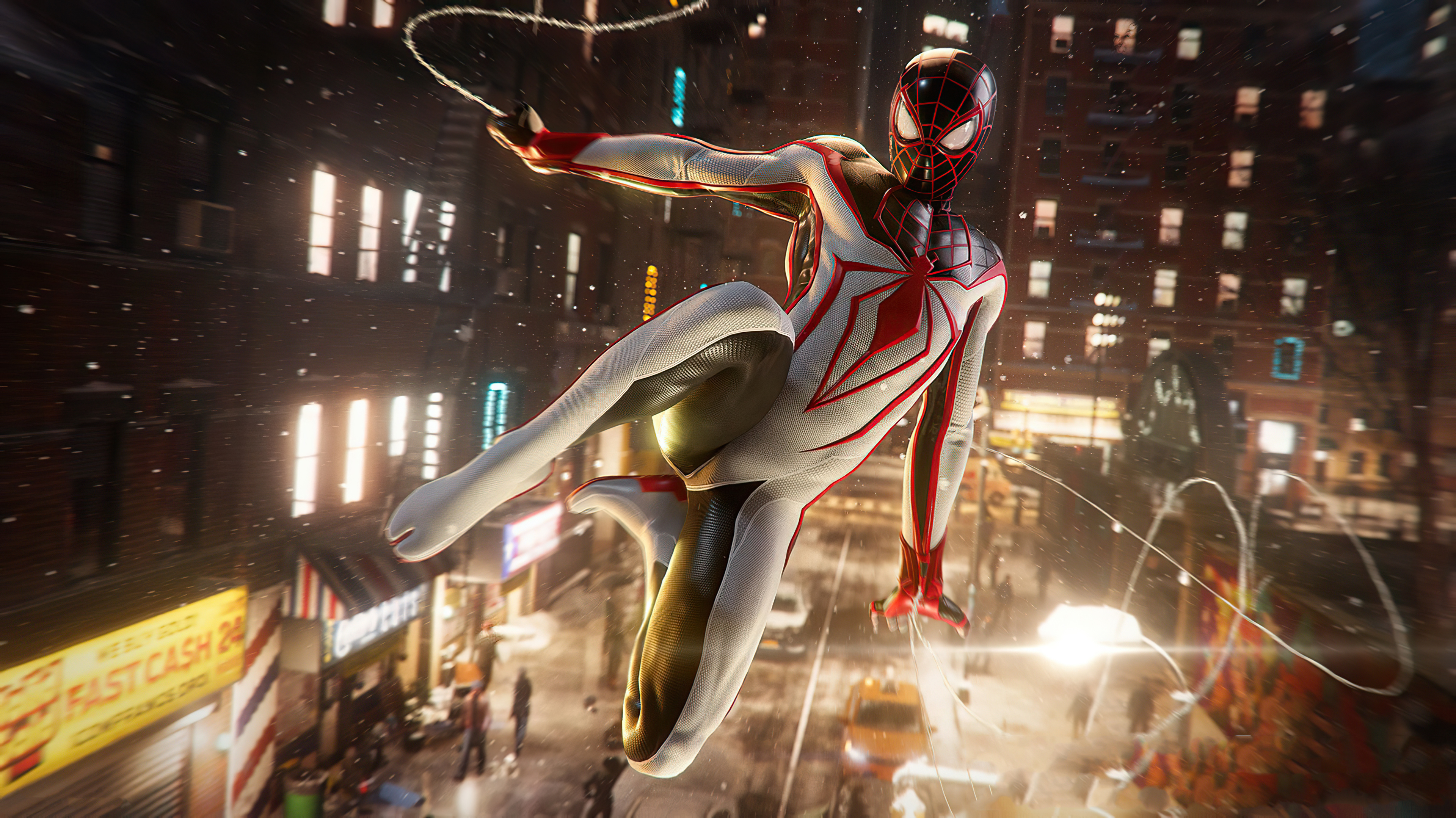 Marvels Spiderman Miles Morales White Suit Wallpaper, HD ...