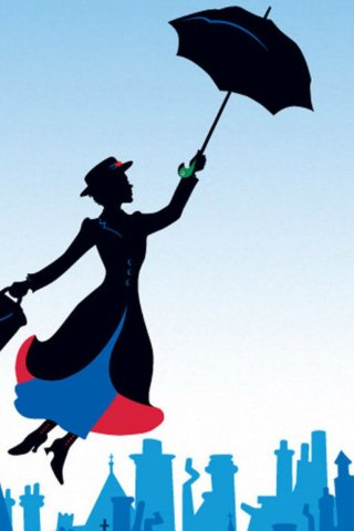 Mary poppins broadway poster full hd 2k wallpaper - Mary poppins wallpaper ...