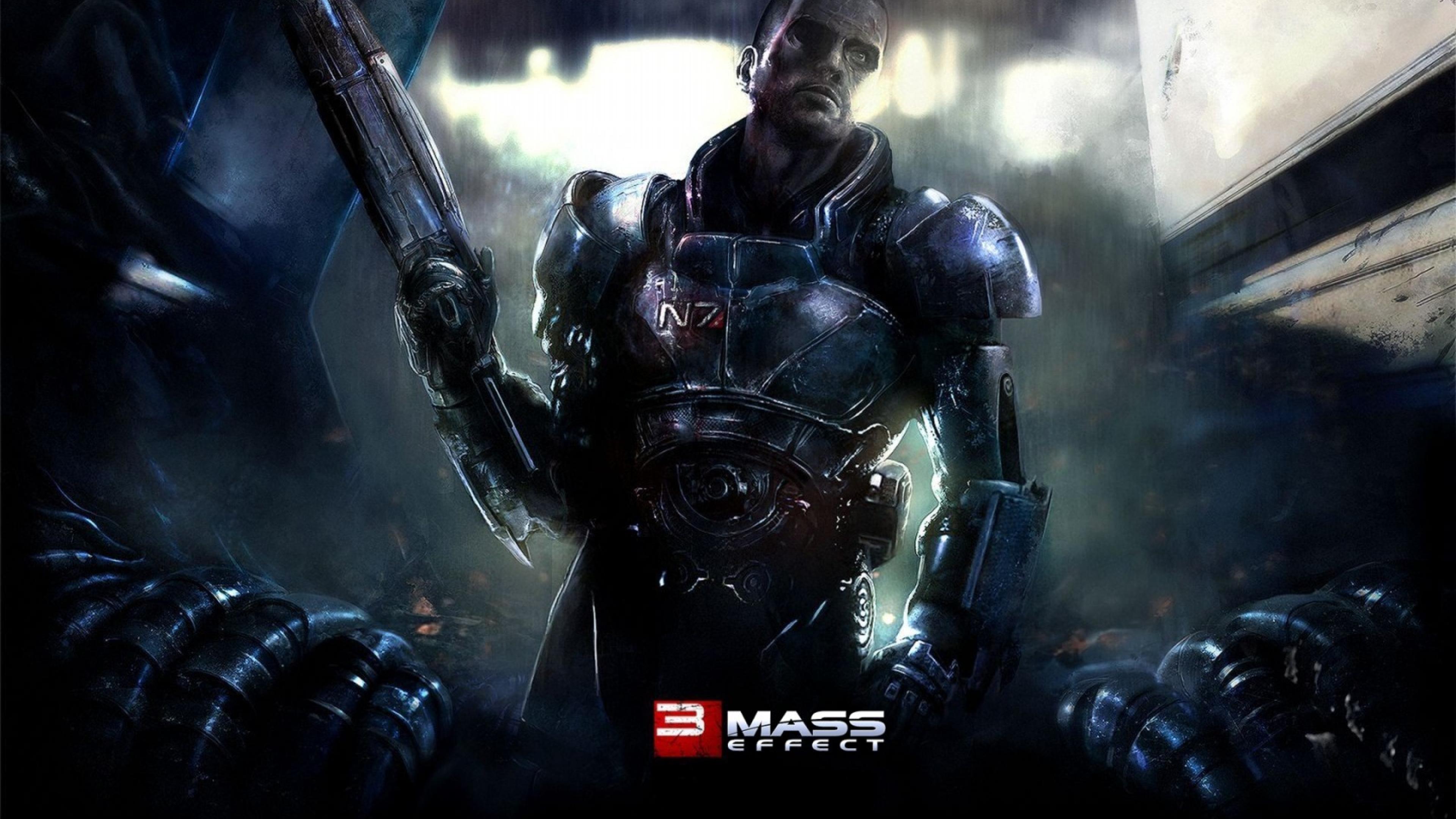 3840x2160 Mass Effect 3 Shepard N7 4k Wallpaper Hd Games 4k