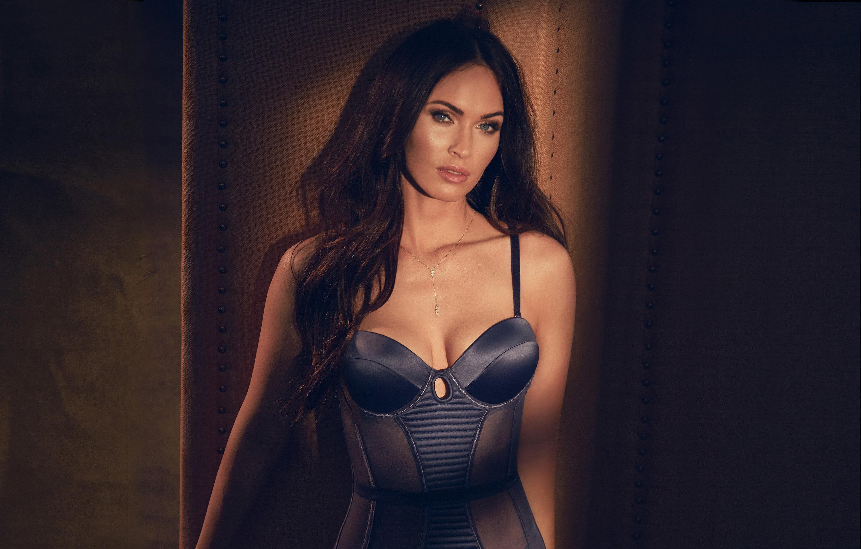 Megan Fox Fredericks Lingerie shoot Full HD 2K Wallpaper