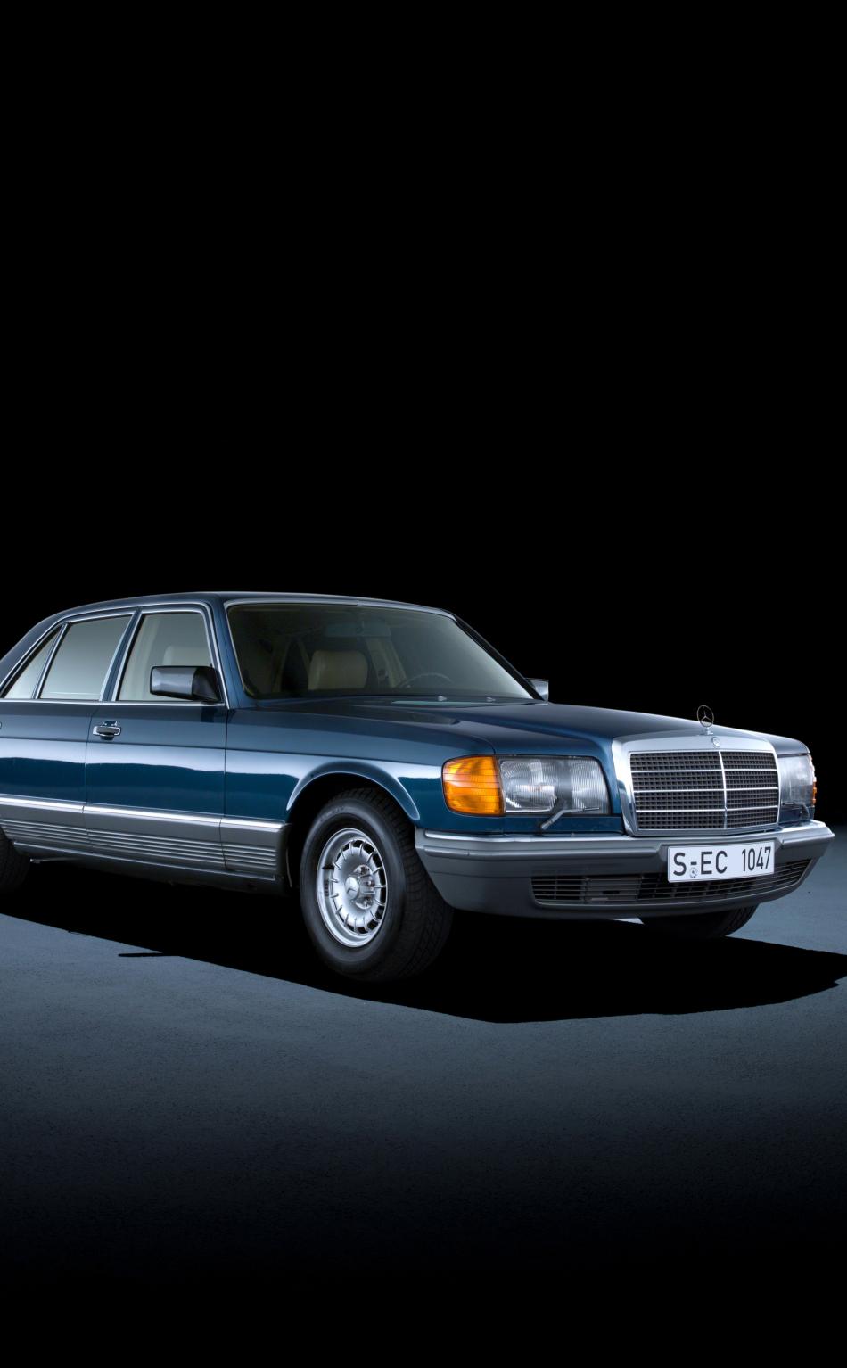 Mercedes benz retro 1980 85 500 sel blue hd 4k wallpaper for 85 mercedes benz
