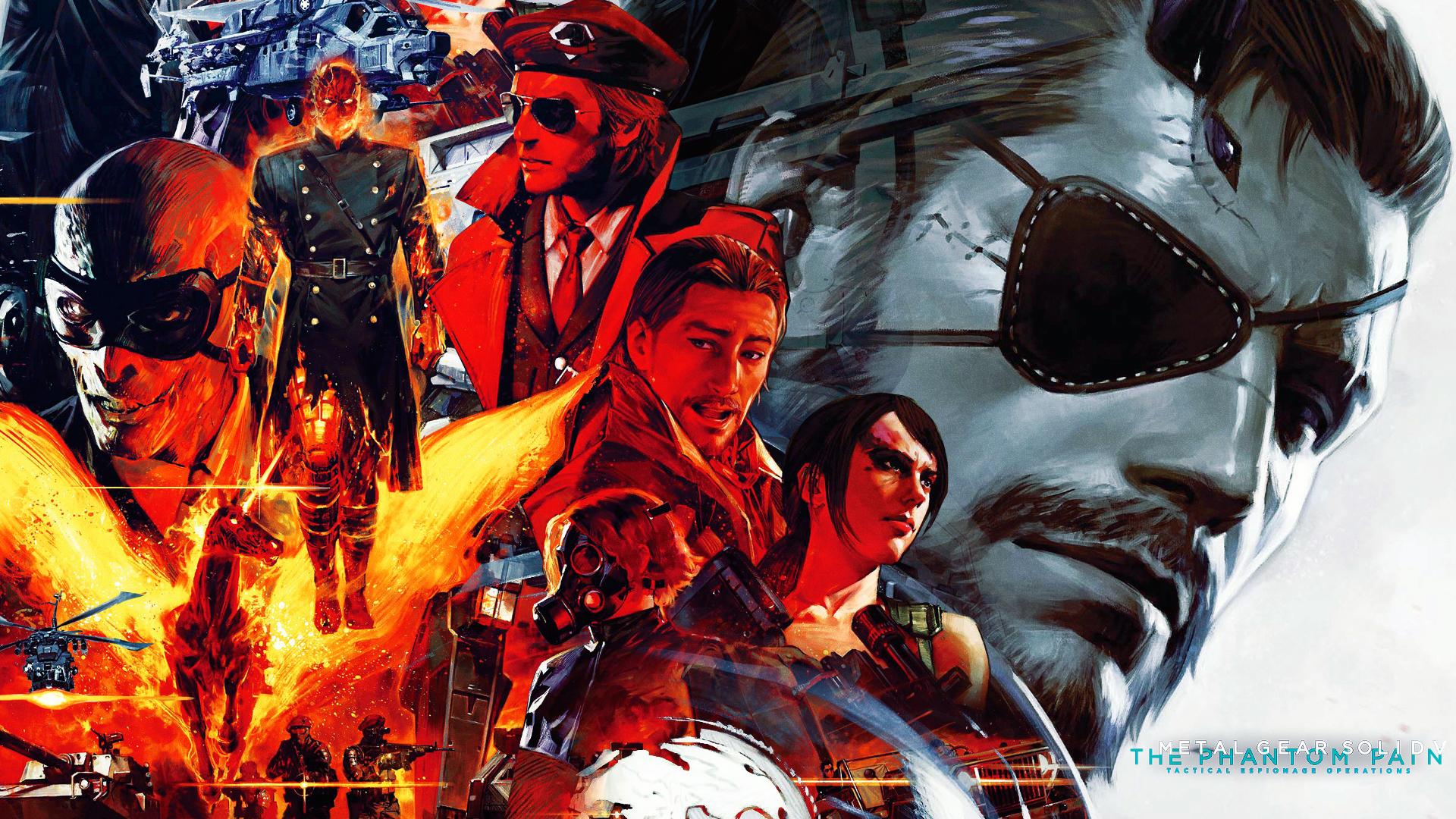 Metal Gear Solid V The Phantom Pain Characters Wallpaper Hd Games