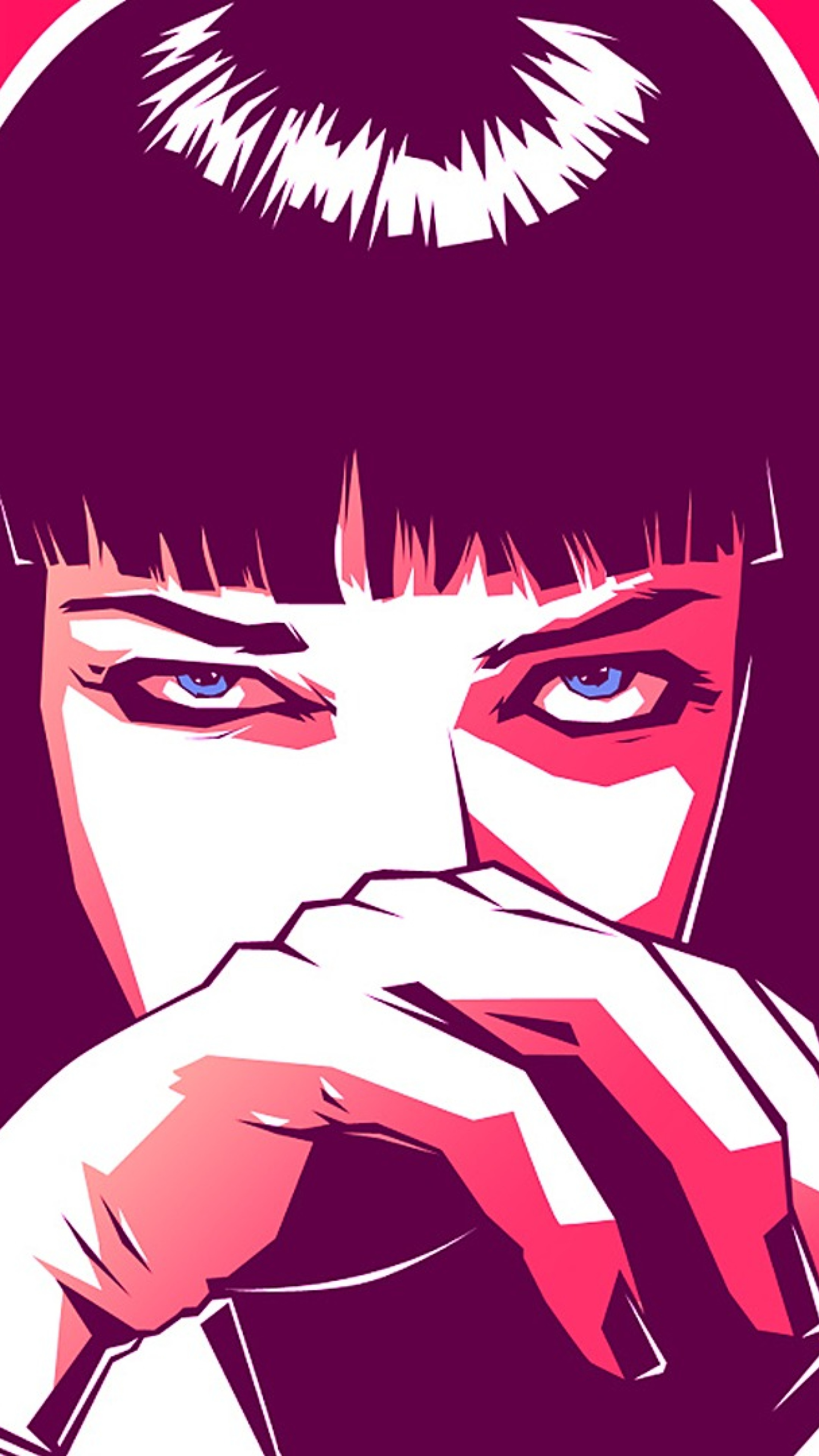 mia wallace pulp fiction movie artwork full hd wallpaper