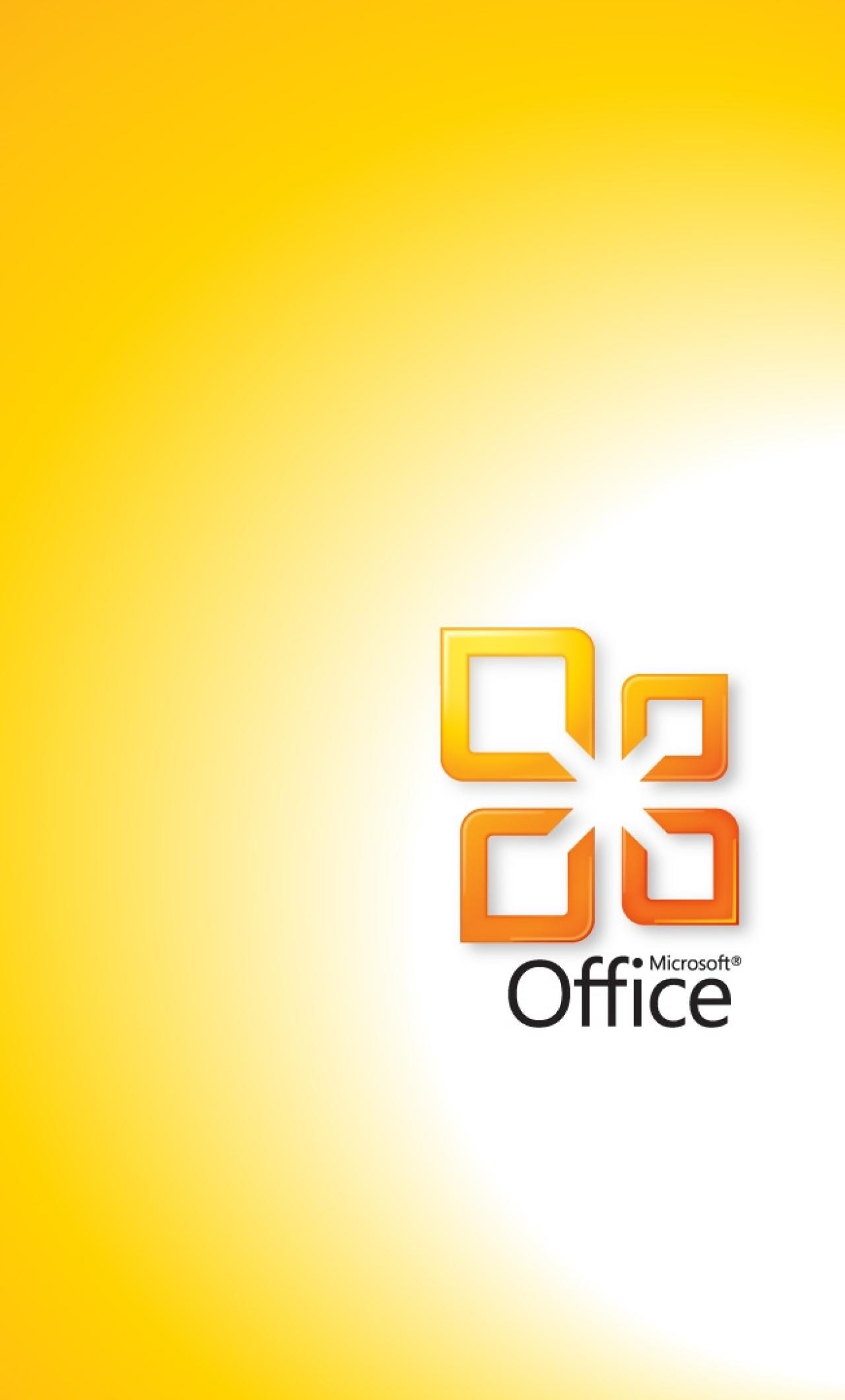 Download Microsoft Office Yellow 1280x2120 Resolution Full HD