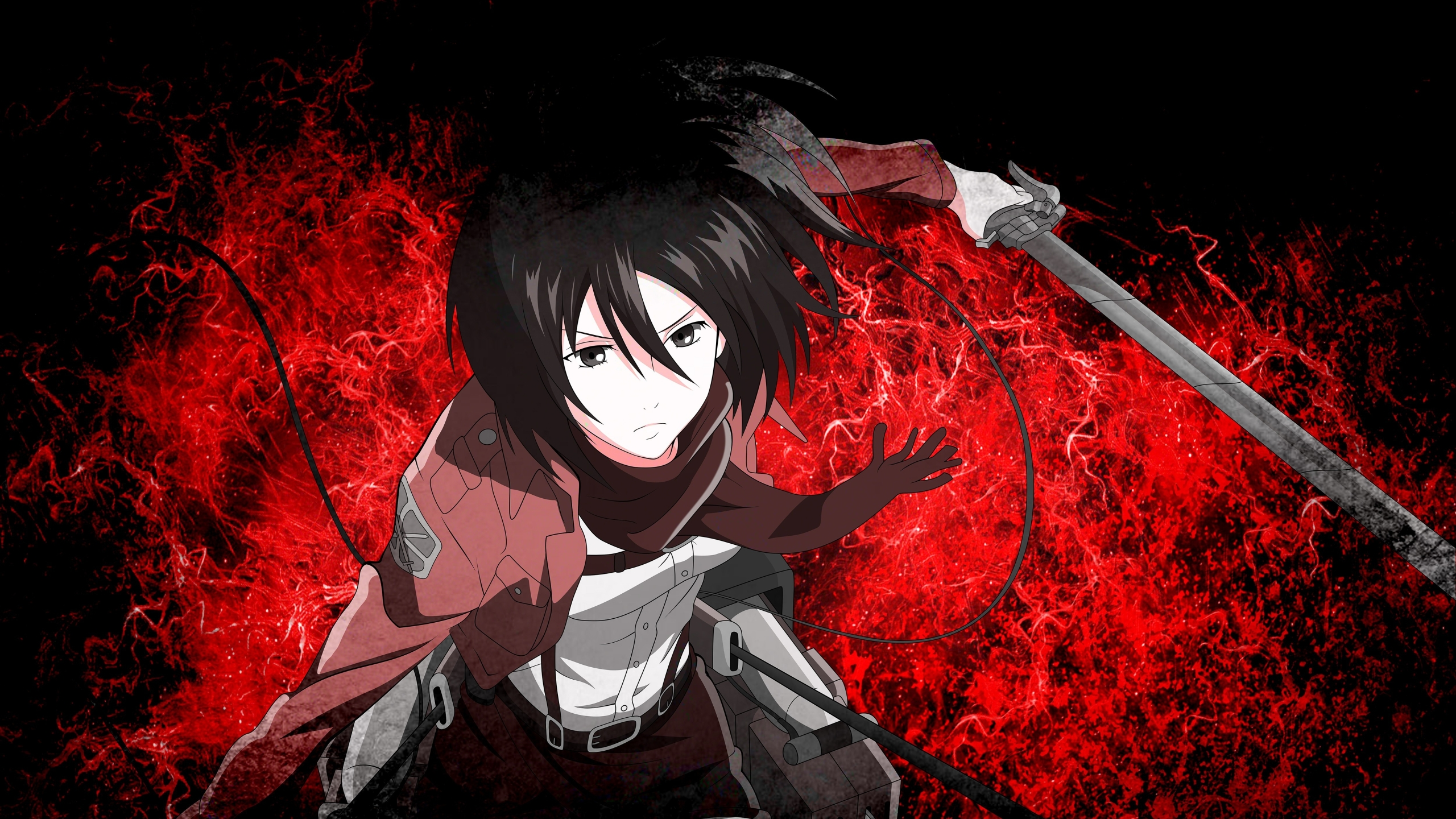 2560x1440 Mikasa Ackerman 5k 1440p Resolution Wallpaper Hd Anime 4k Wallpapers Images Photos And Background