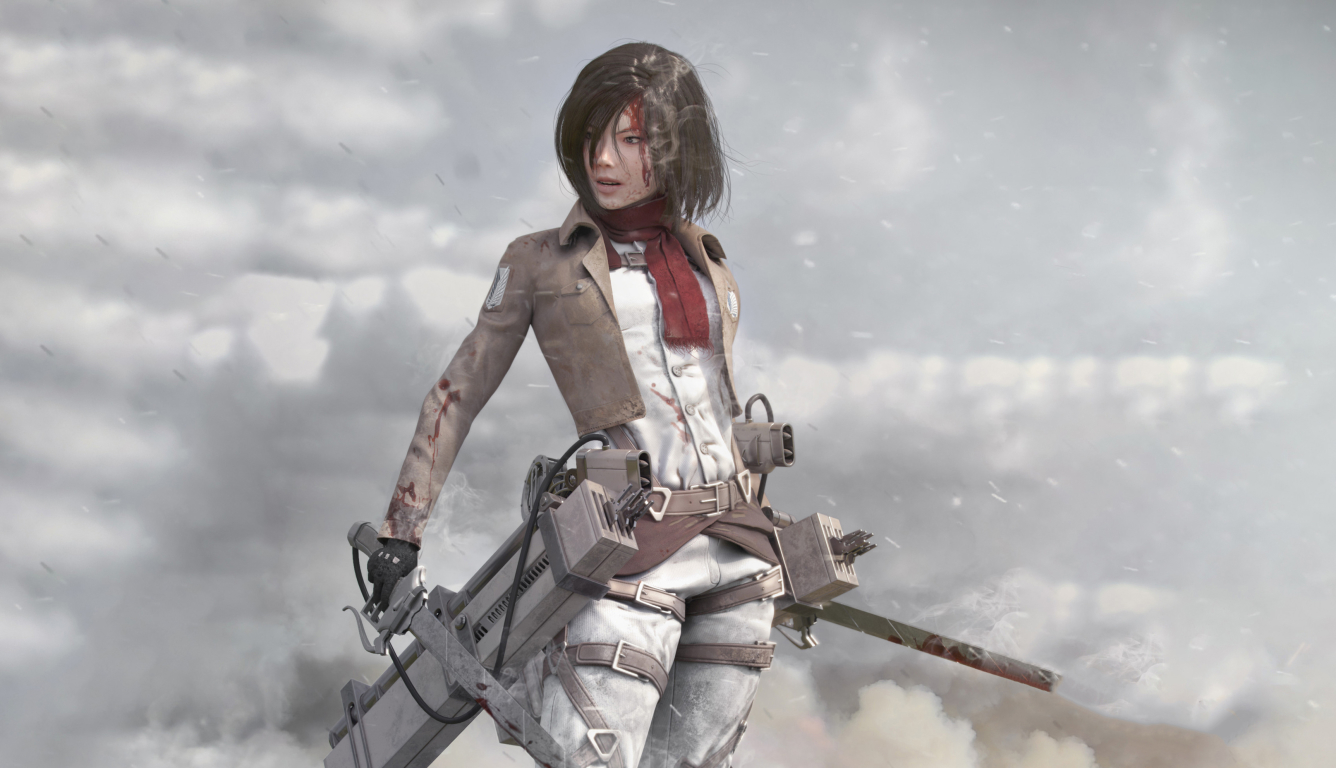 1336x768 Mikasa Ackerman Art Hd Laptop Wallpaper Hd Anime 4k Wallpapers Images Photos And Background