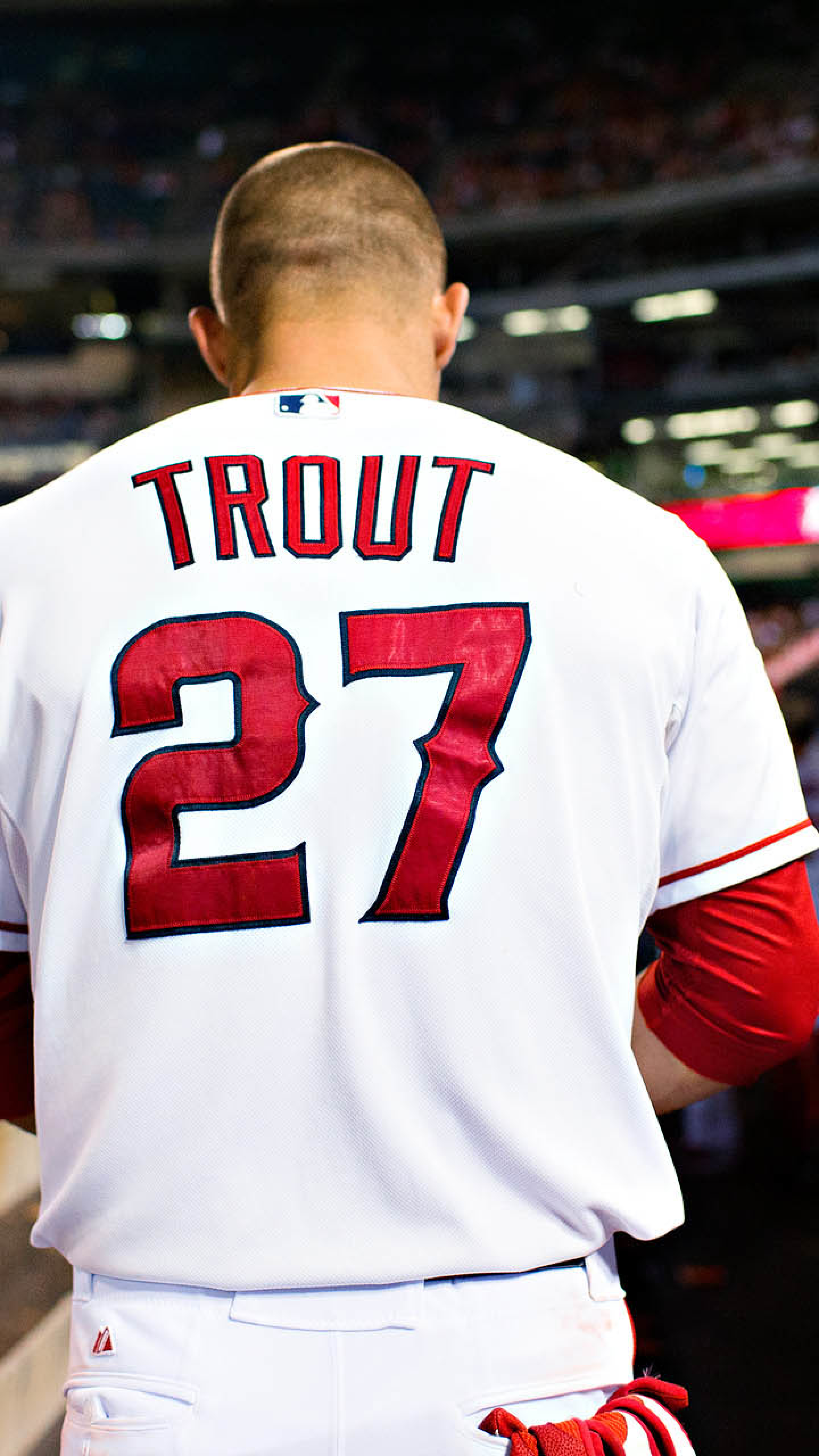 2160x3840 Mike Trout Baseball Los Angeles Angels Of