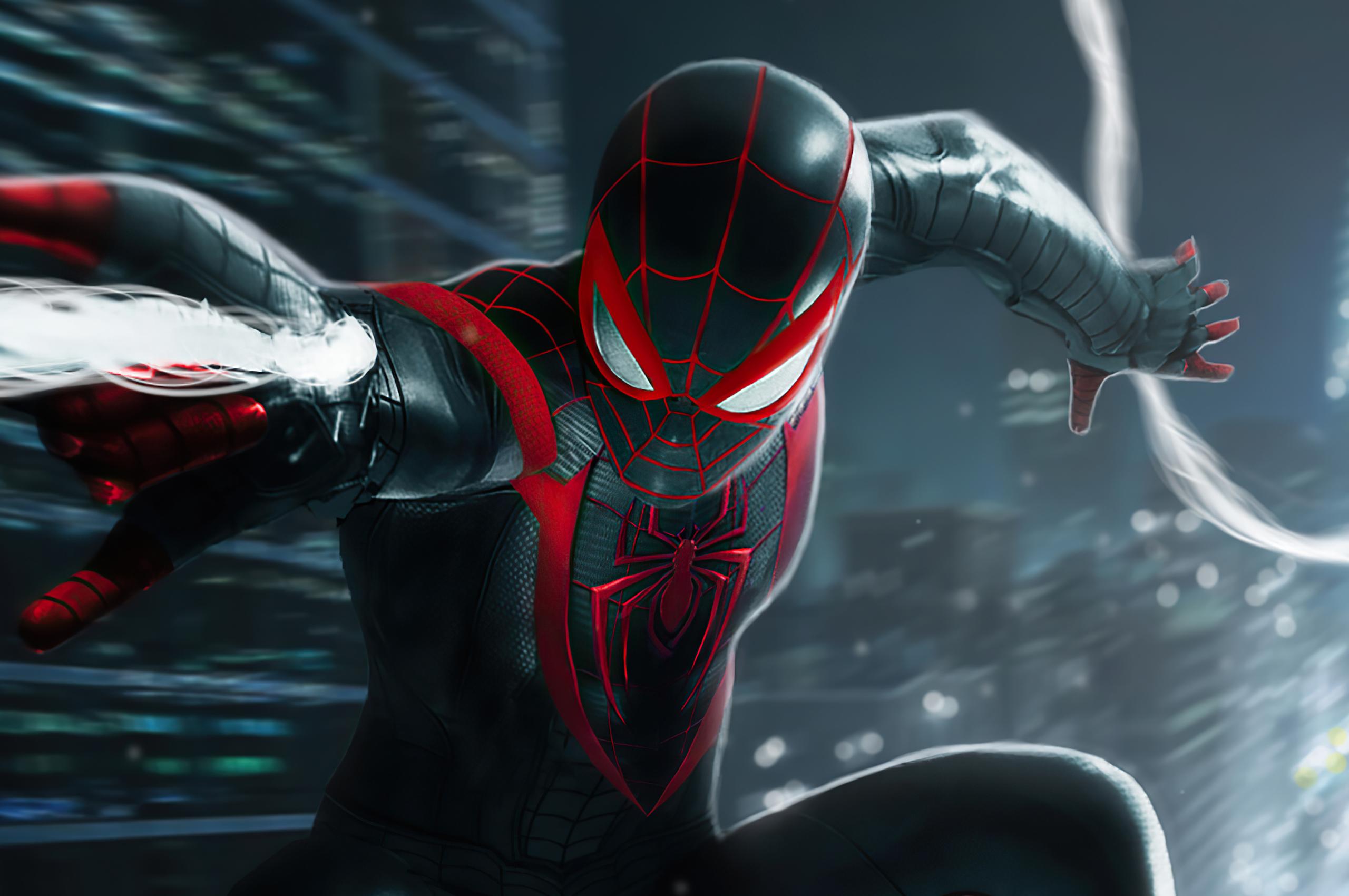 2560x1700 Miles Morales Spider-Man Black Suit Chromebook ...