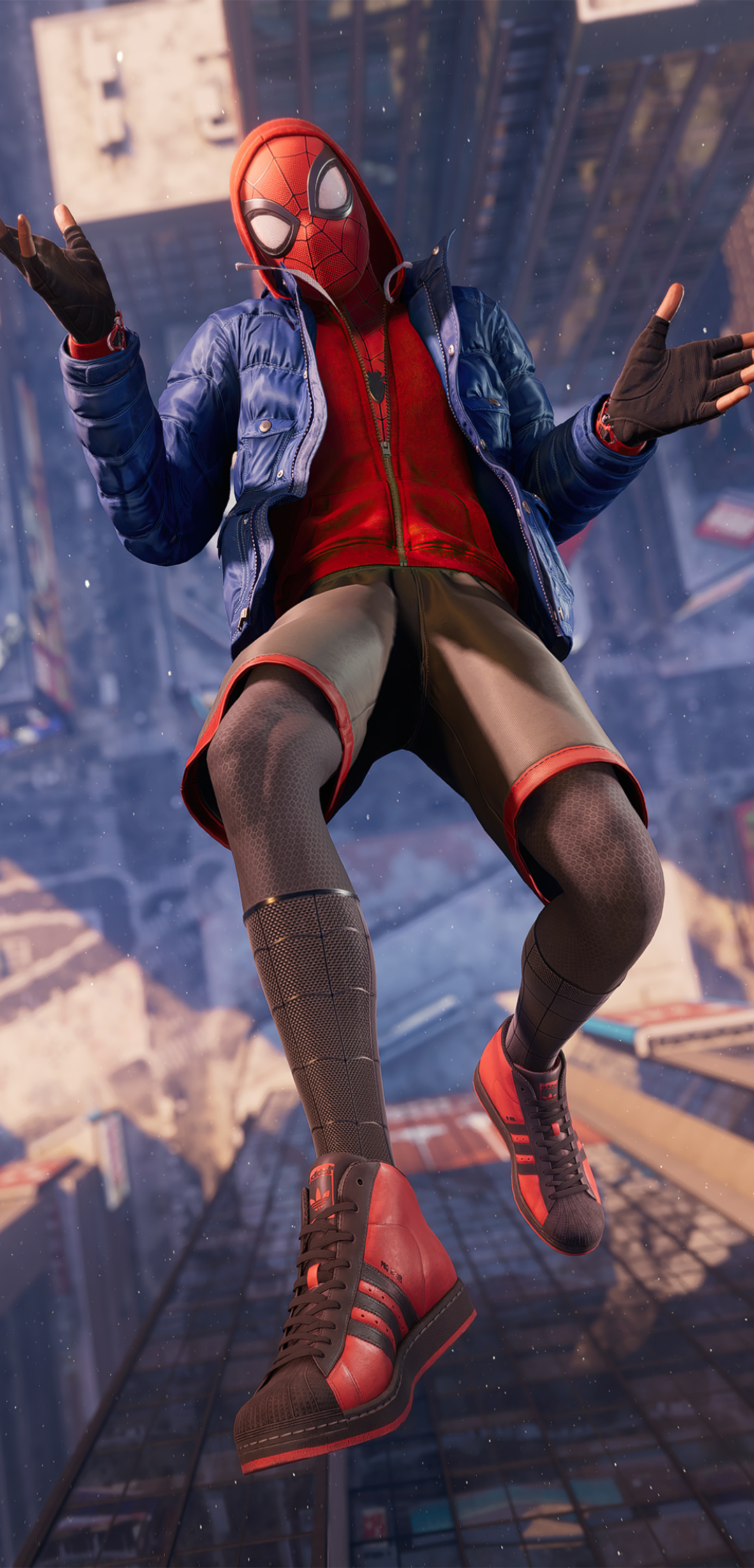 1080x2246 Miles Morales Spider-Man Falling Cool 1080x2246 ...