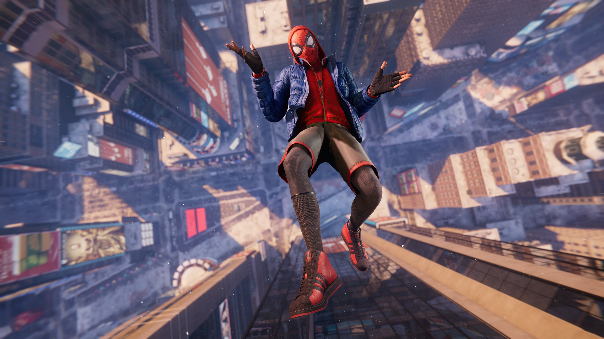 2048x1152 Miles Morales Spider-Man Falling Cool 2048x1152 ...