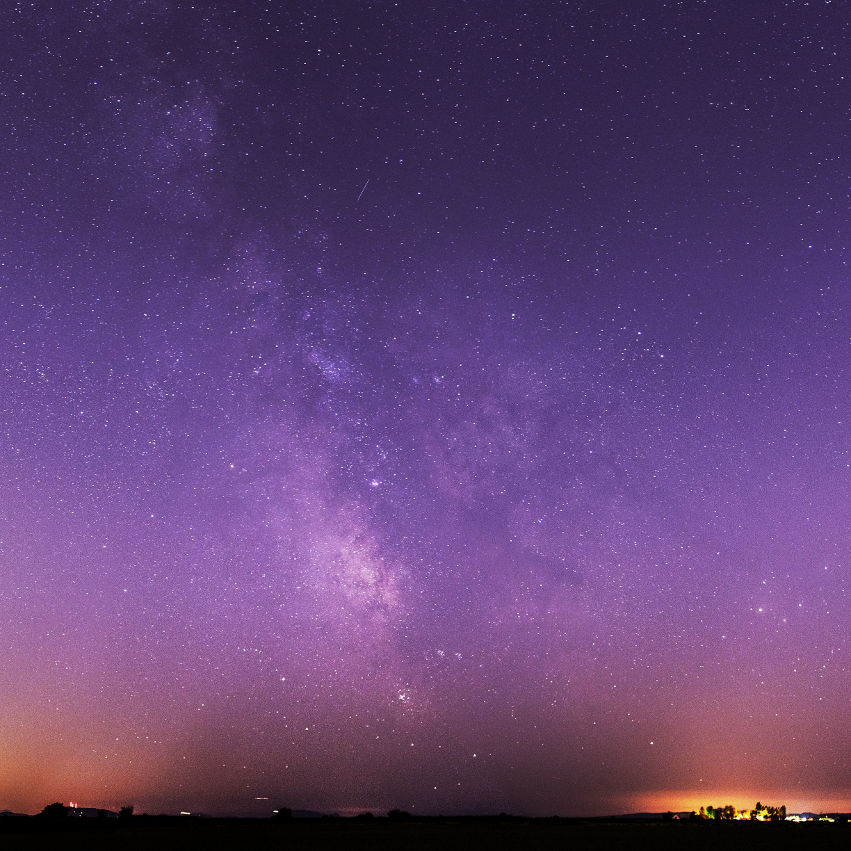 Milky Way Galaxy Purple Night Sky, HD 4K Wallpaper