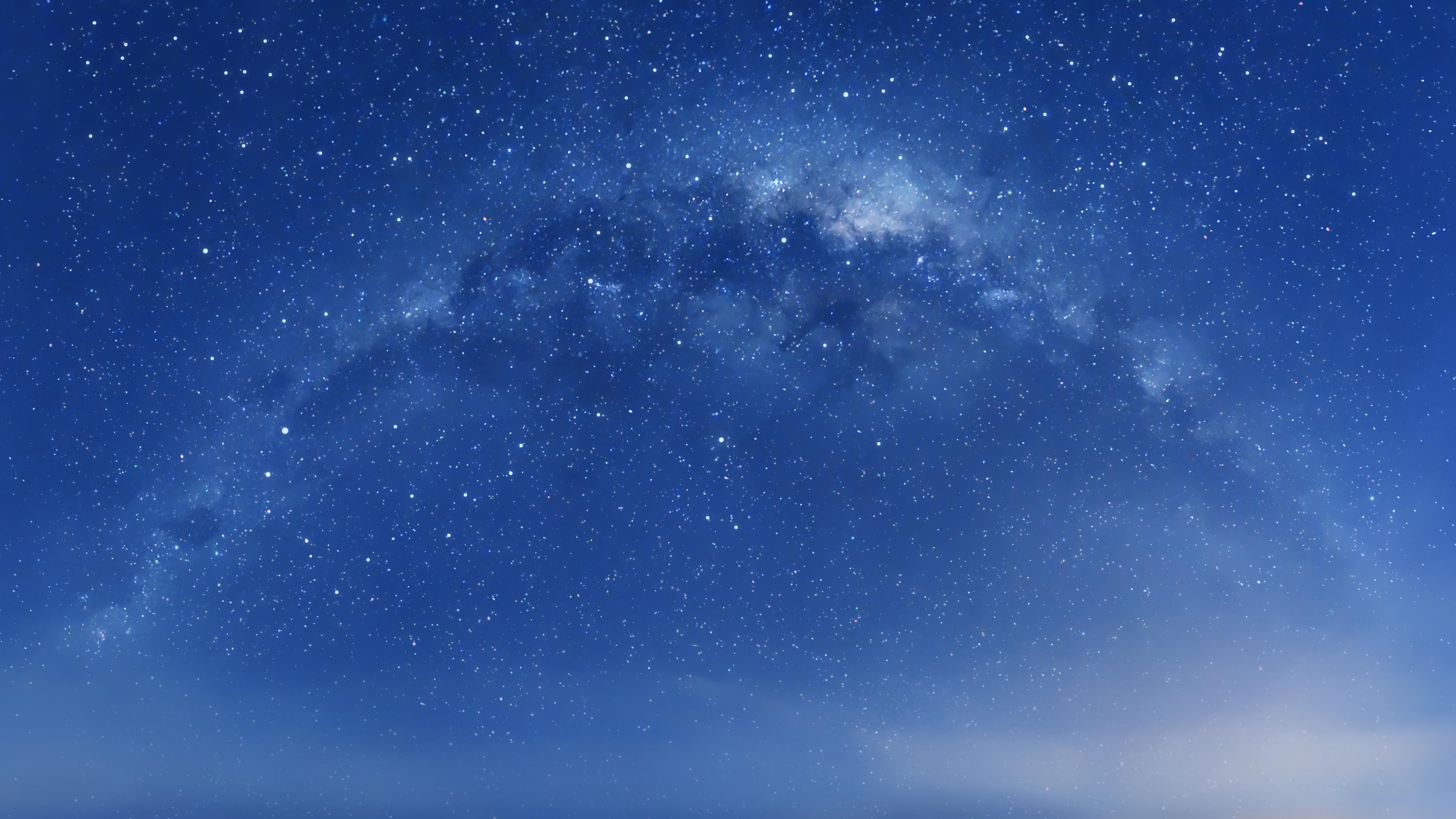Milky way starry sky mac os x hd 4k wallpaper - Starry sky 4k ...