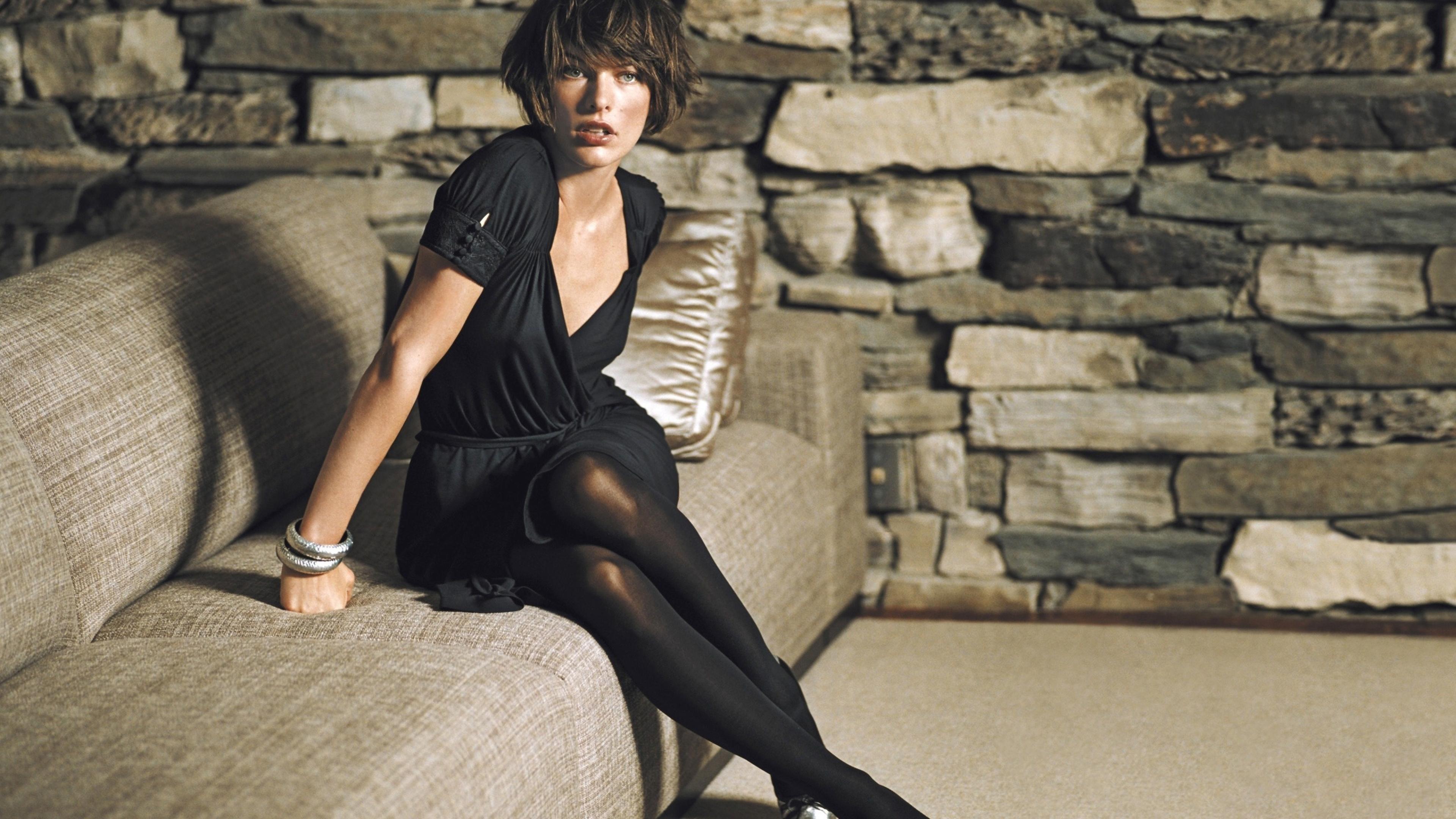 Milla jovovich short hair style photoshoot full hd 2k - Milla jovovich 4k wallpaper ...