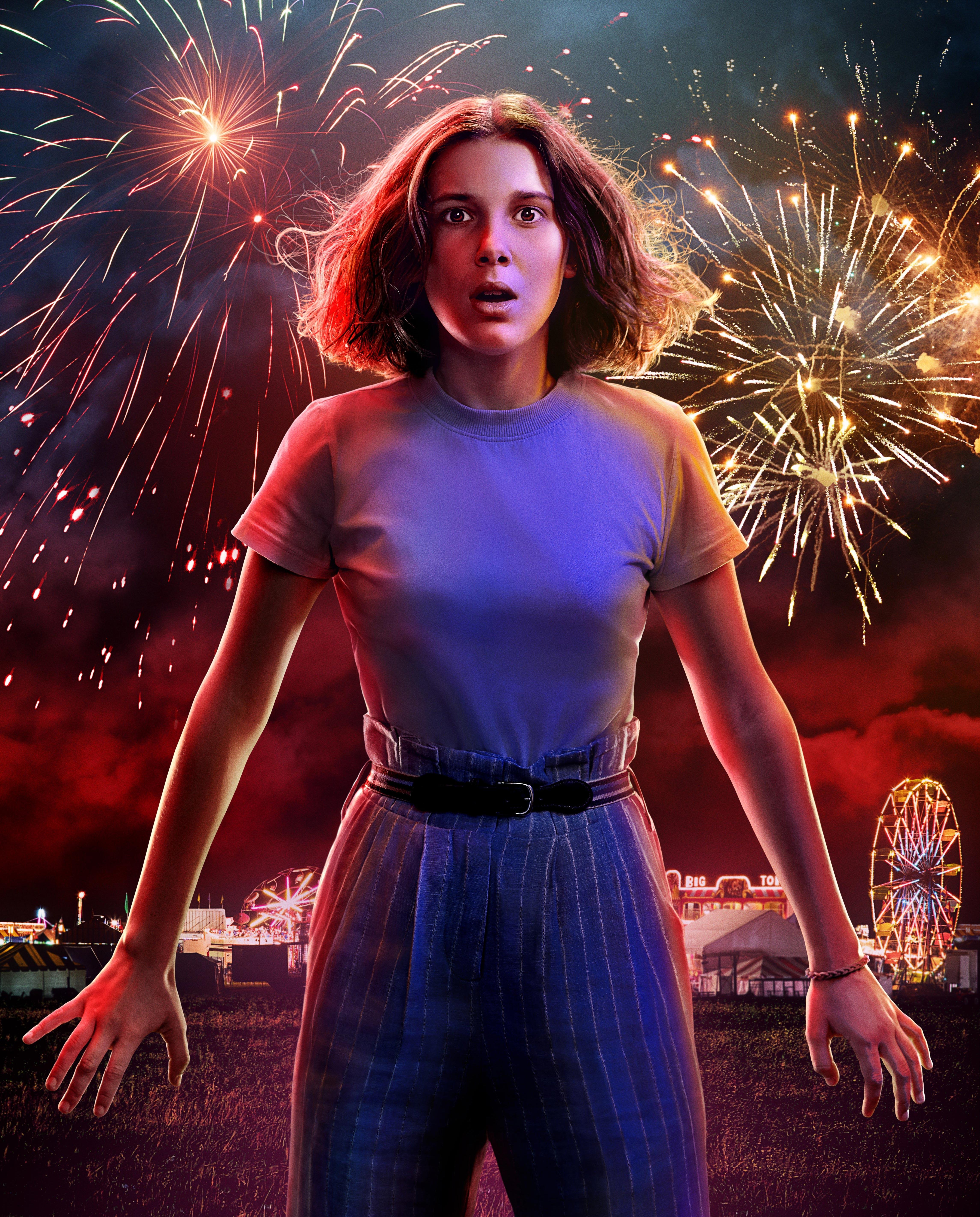 Lucifer Season 3 Hd 4k Wallpaper: Millie Bobby Brown As Eleven Stranger Things 3 Poster