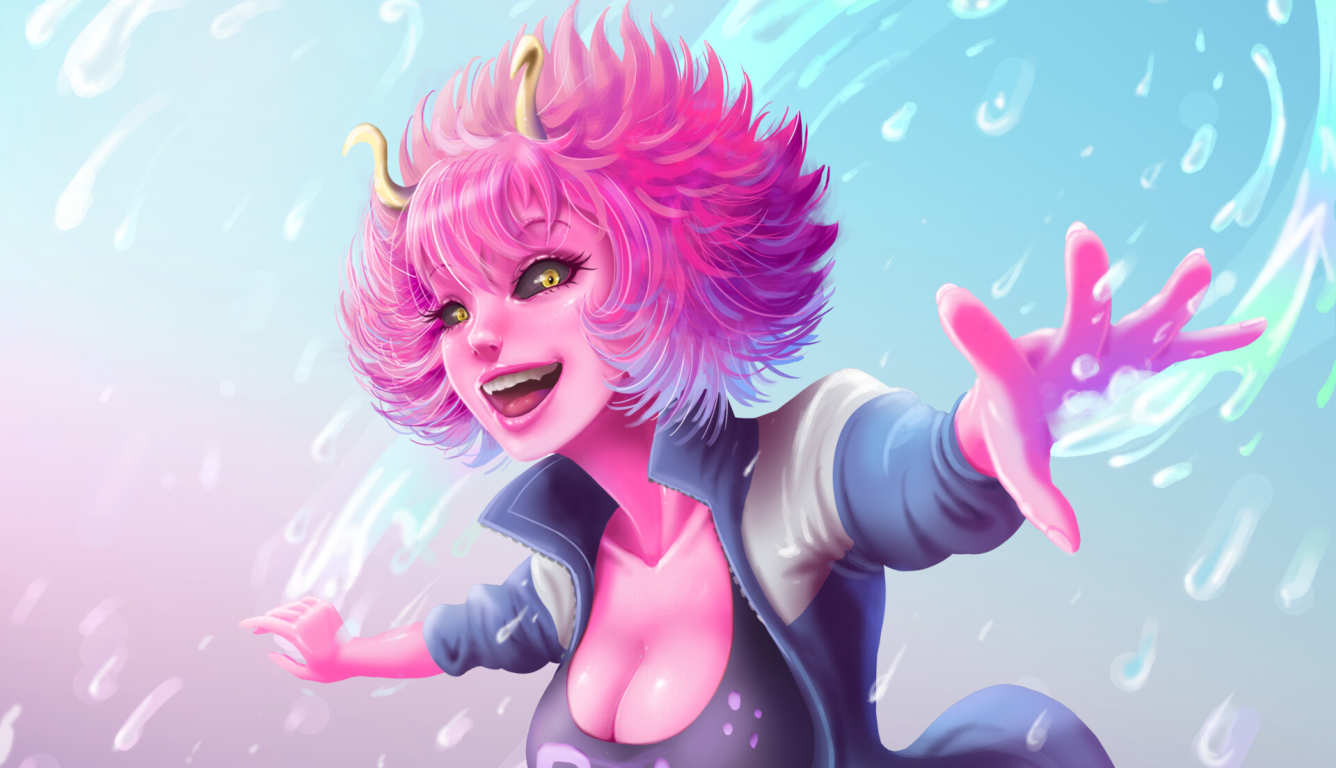 1336x768 Mina Ashido My Hero Academia Hd Laptop Wallpaper Hd Anime 4k Wallpapers Images Photos And Background