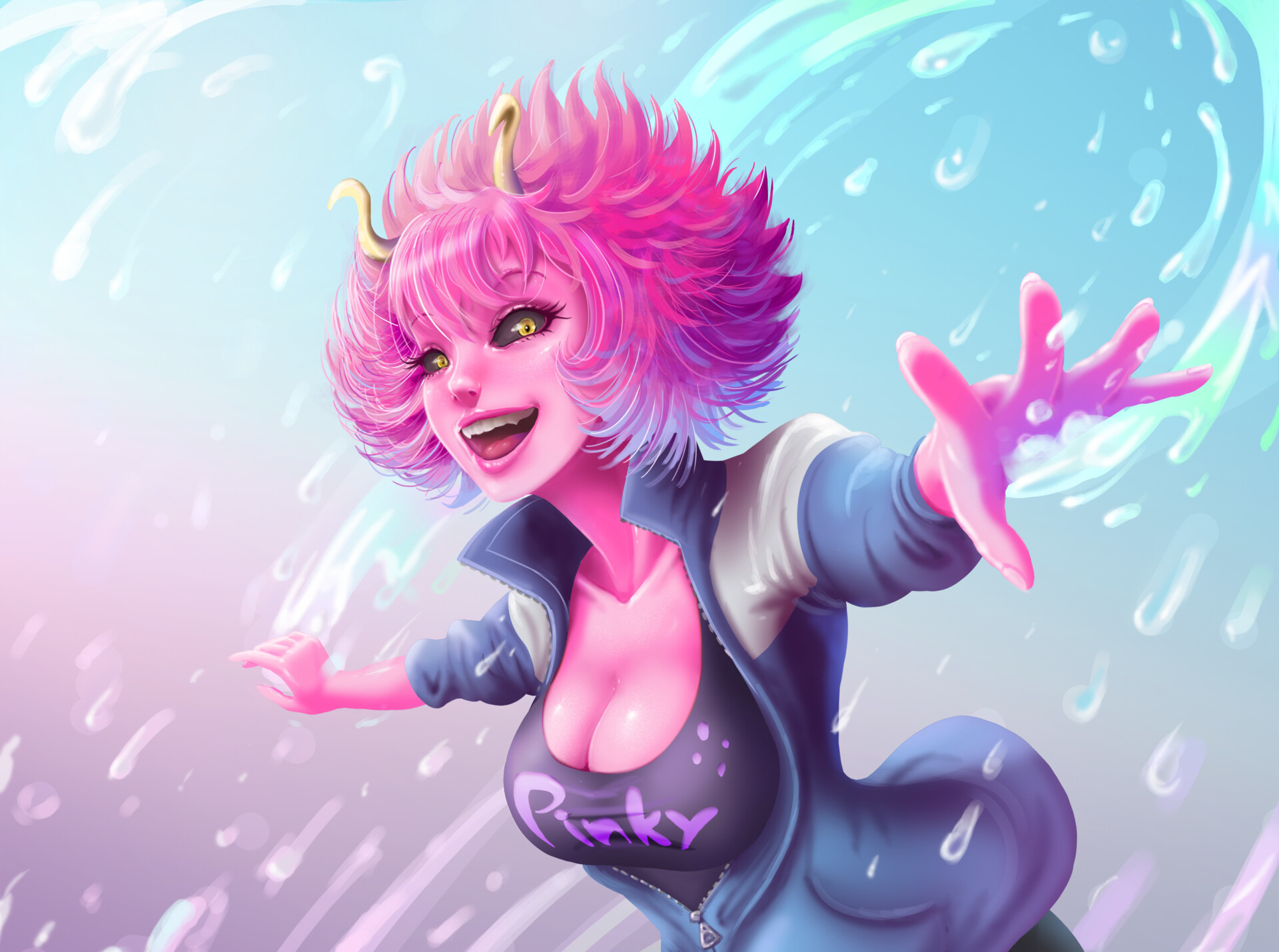 Mina Ashido My Hero Academia Wallpaper Hd Anime 4k Wallpapers