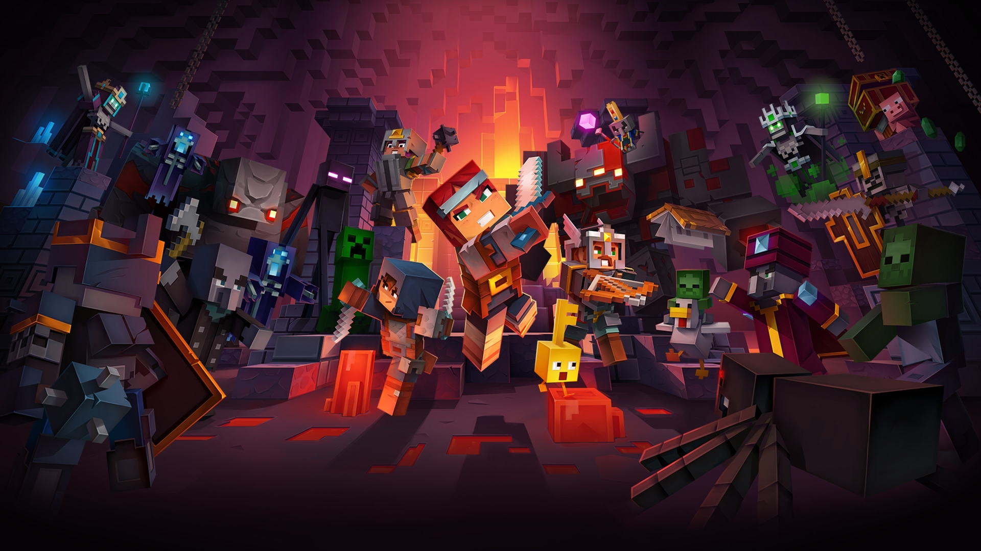 1920x1080 Minecraft Dungeons 4k 1080p Laptop Full Hd Wallpaper Hd Games 4k Wallpapers Images Photos And Background