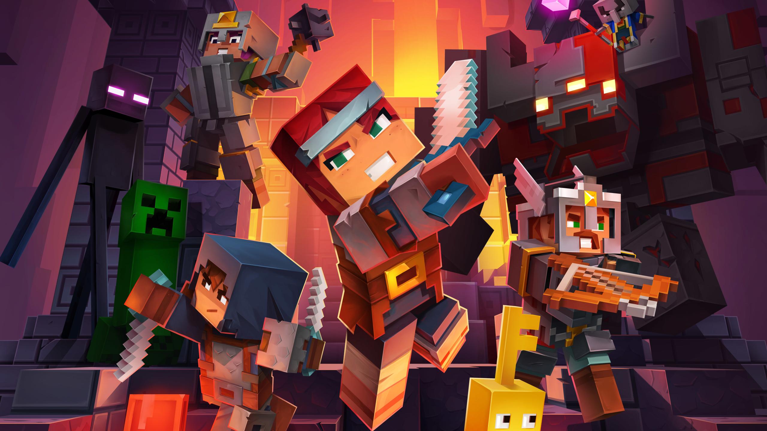 2560x1440 Minecraft Dungeons 1440p Resolution Wallpaper Hd Games